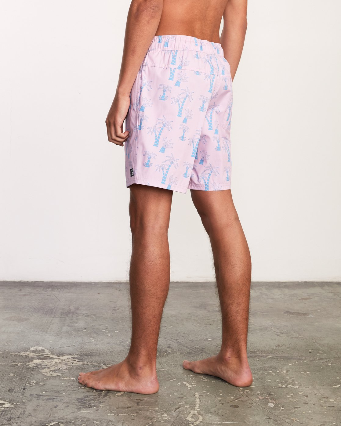 "4 Kristen Liu Wong Program Elastic Short - 17"" Boardshorts for Men Pink P1VORDRVS9 RVCA"