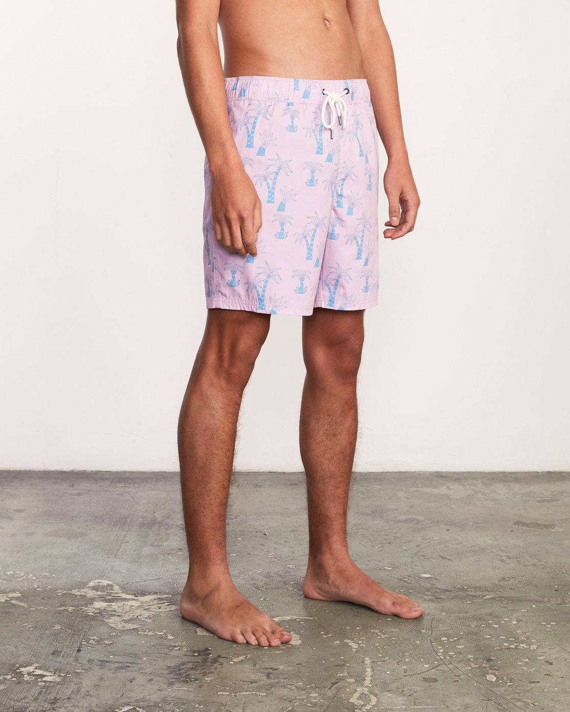 "7 Kristen Liu Wong Program Elastic Short - 17"" Boardshorts for Men Pink P1VORDRVS9 RVCA"