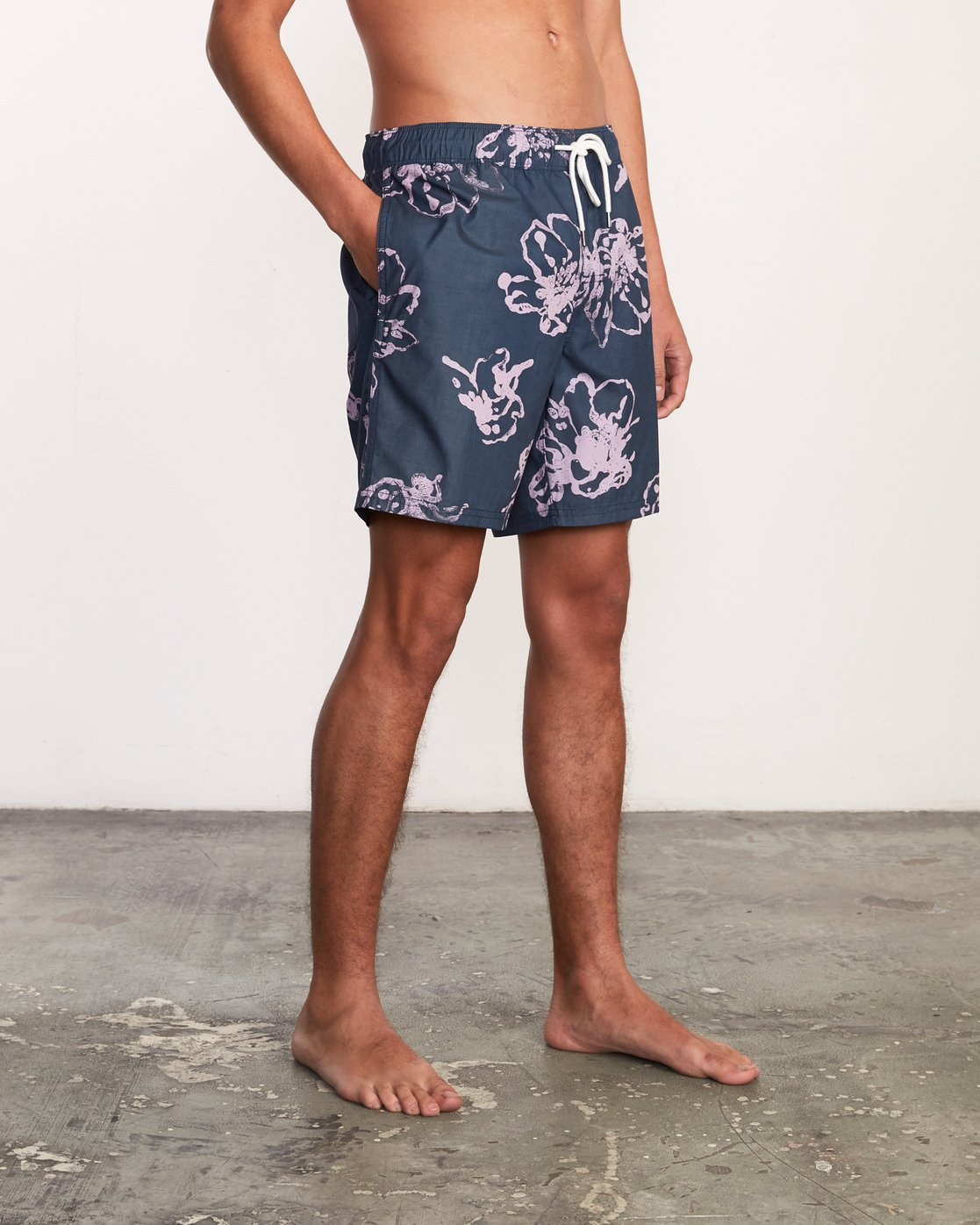 "7 Kristen Liu Wong Program Elastic Short - 17"" Boardshorts for Men Blue P1VORDRVS9 RVCA"