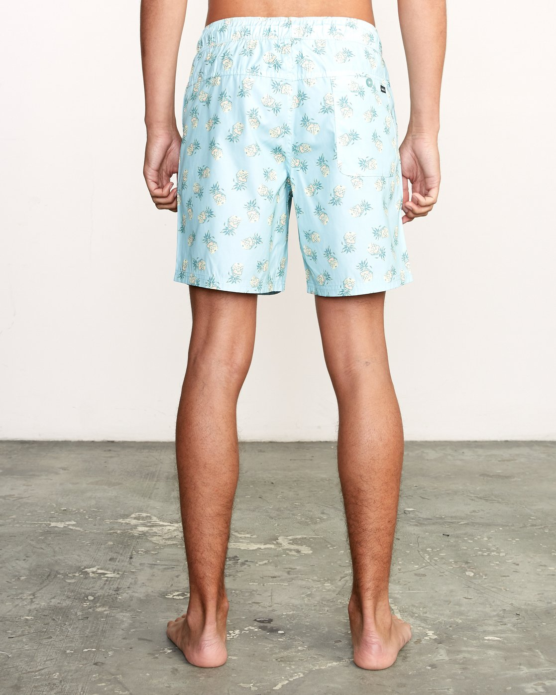 "4 Kristen Liu Wong Program Elastic Short - 17"" Boardshorts for Men Blue P1VORDRVS9 RVCA"