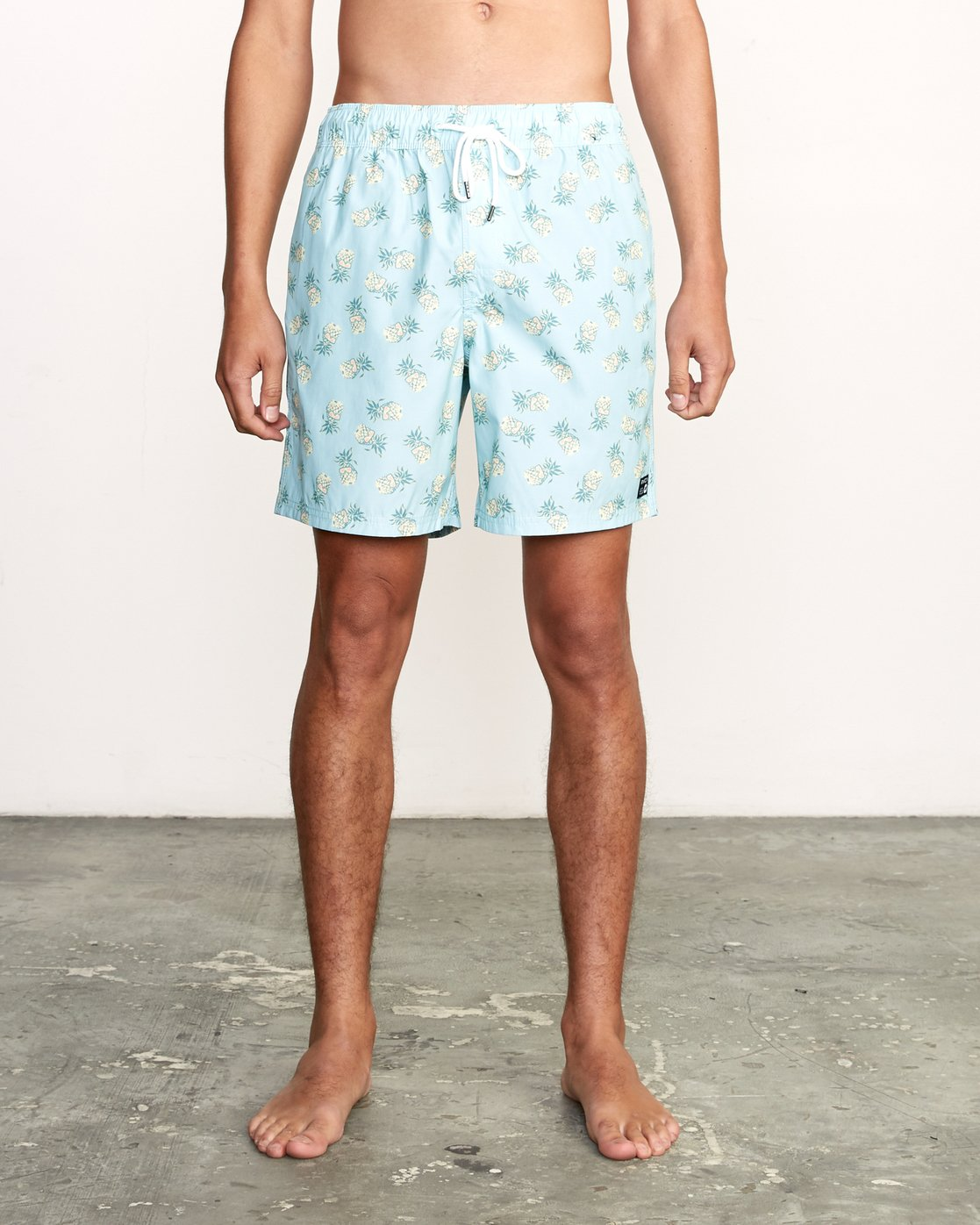 "1 Kristen Liu Wong Program Elastic Short - 17"" Boardshorts for Men Blue P1VORDRVS9 RVCA"