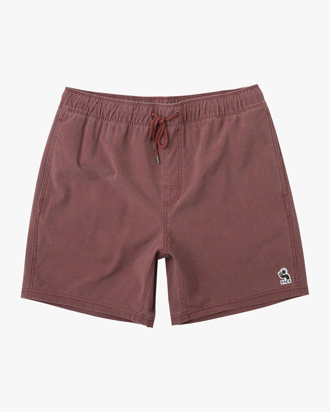 """0 Washer Elastic Short - 17"""" Boardshorts for Men Purple P1VORERVS9 RVCA"""
