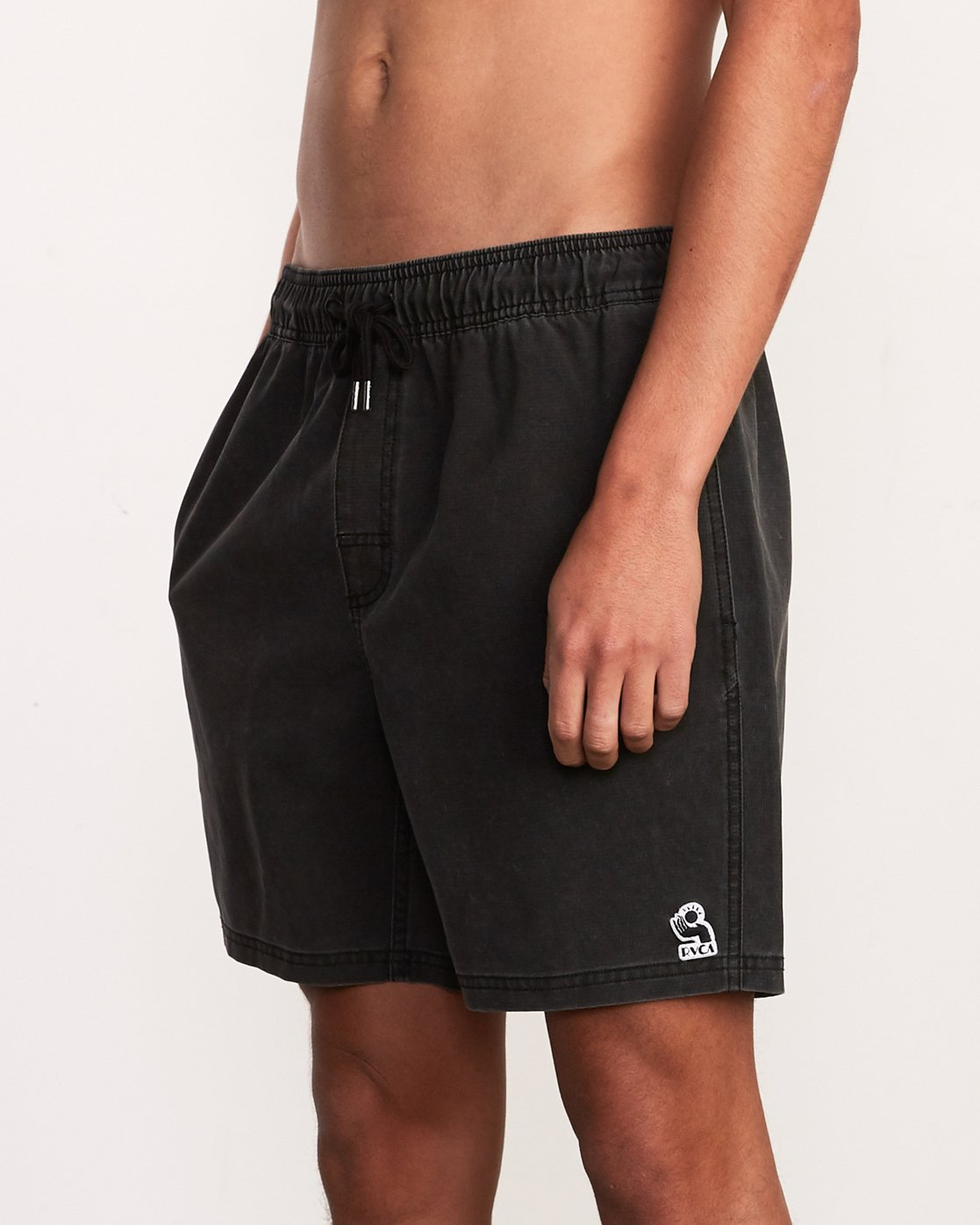 "7 Washer Elastic Short - 17"" Boardshorts for Men Black P1VORERVS9 RVCA"