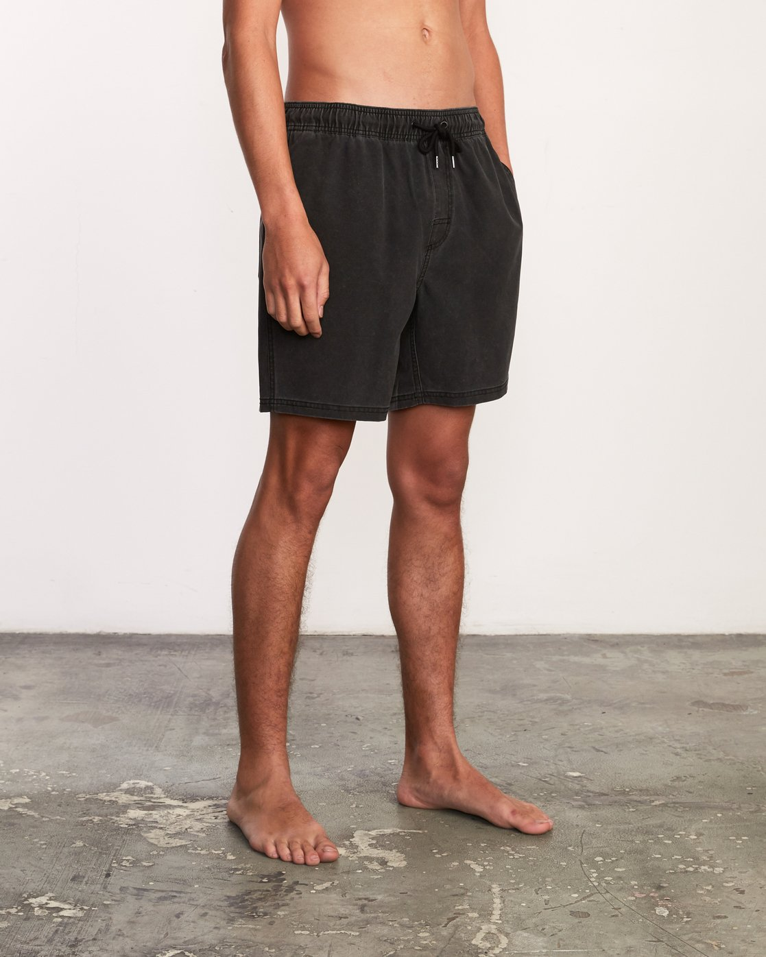 "6 Washer Elastic Short - 17"" Boardshorts for Men Negro P1VORERVS9 RVCA"