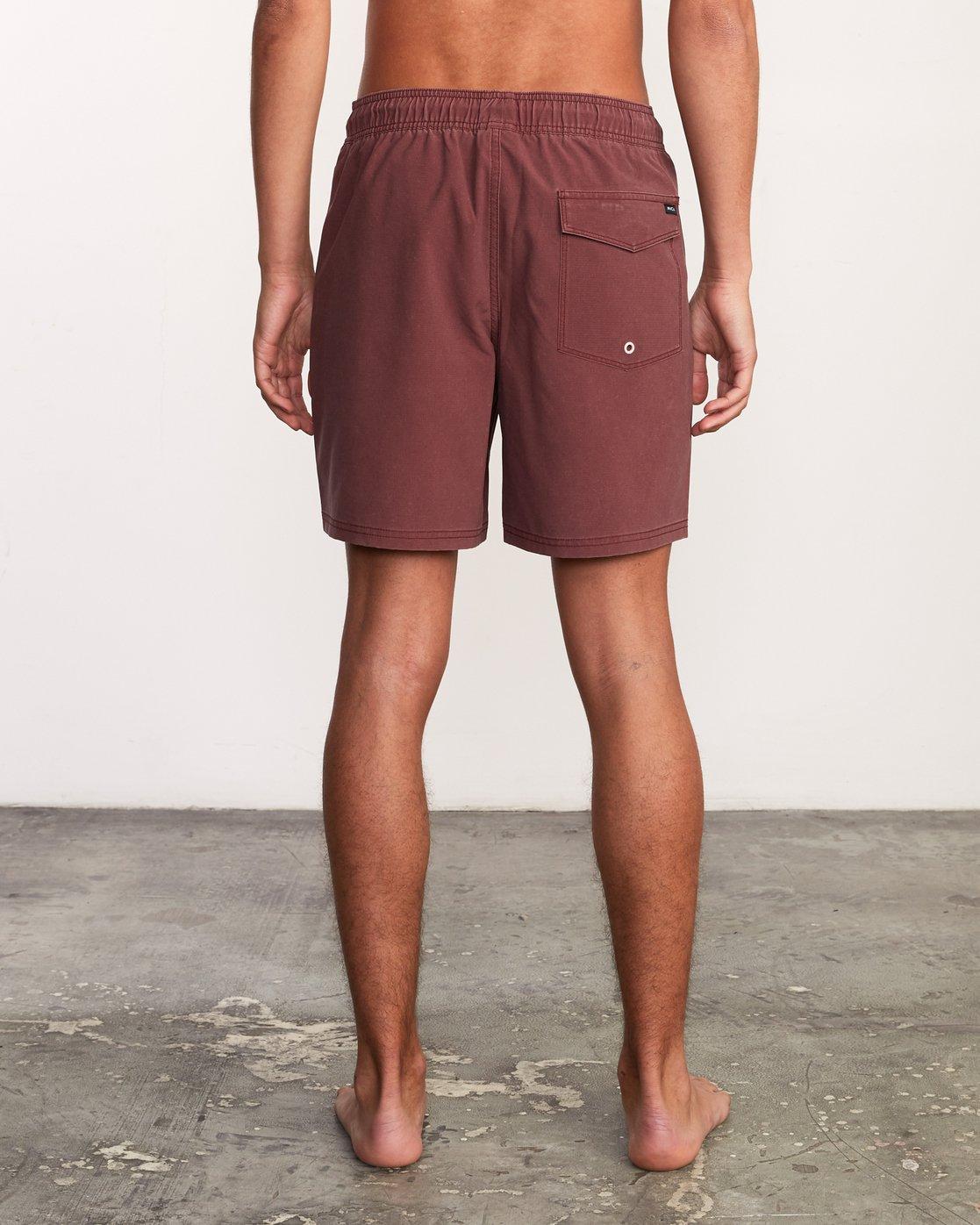 """4 Washer Elastic Short - 17"""" Boardshorts for Men Purple P1VORERVS9 RVCA"""