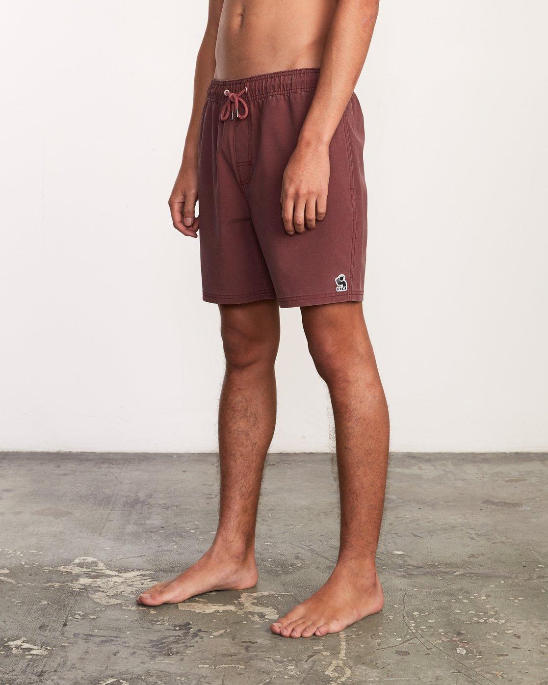 """2 Washer Elastic Short - 17"""" Boardshorts for Men Purple P1VORERVS9 RVCA"""