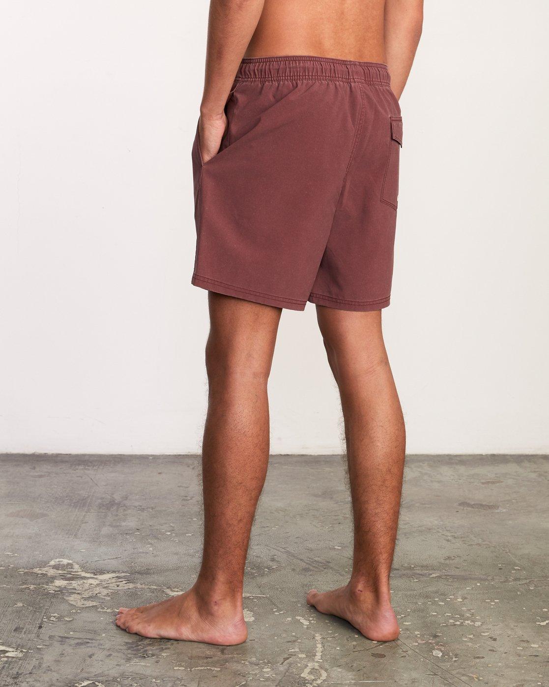 """3 Washer Elastic Short - 17"""" Boardshorts for Men Purple P1VORERVS9 RVCA"""