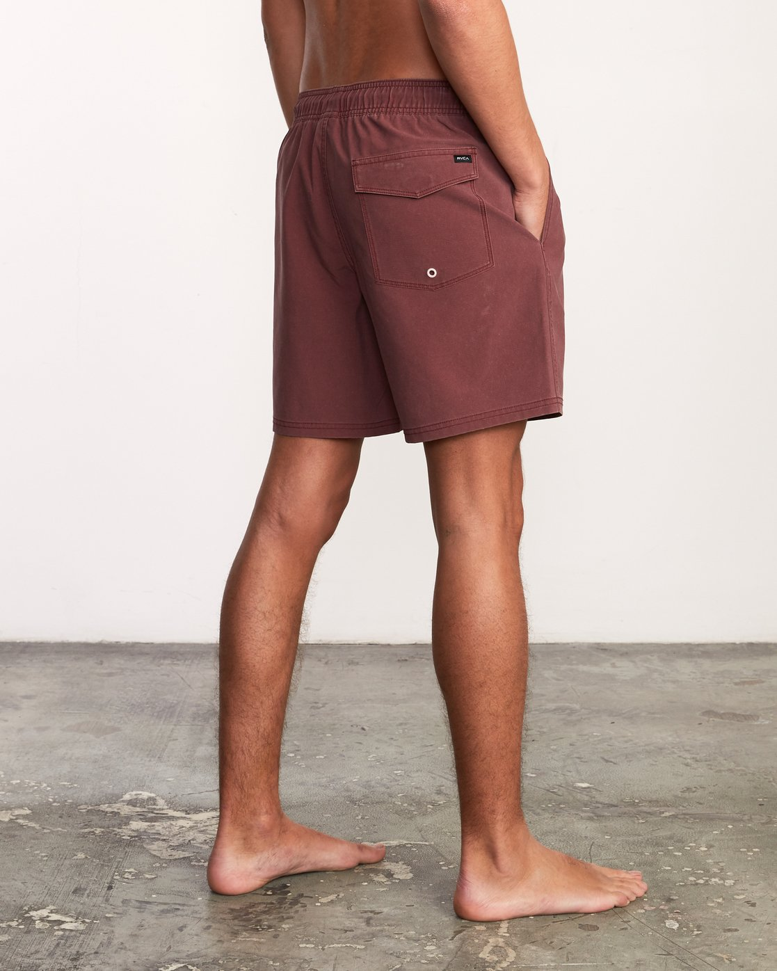 """5 Washer Elastic Short - 17"""" Boardshorts for Men Purple P1VORERVS9 RVCA"""