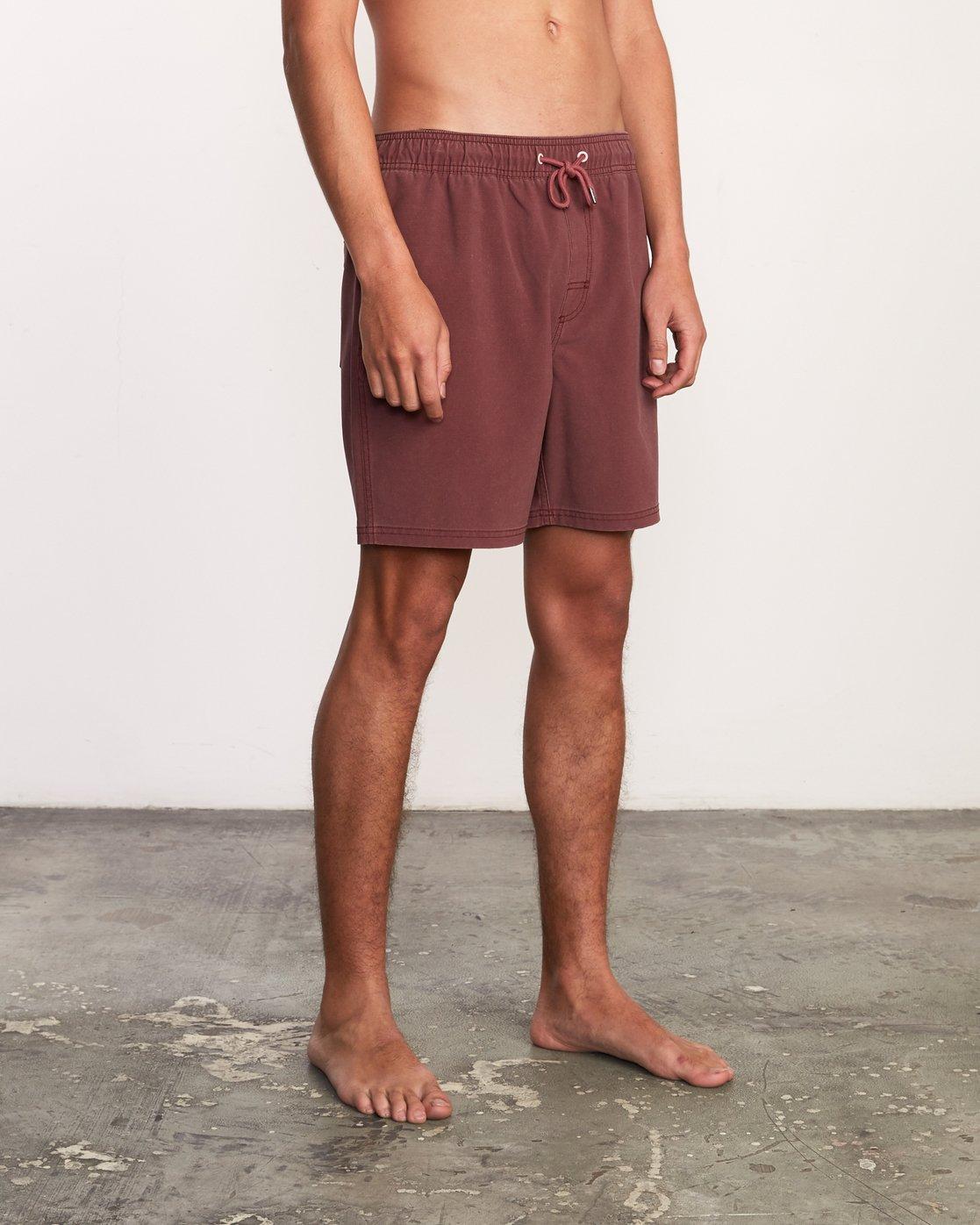 """6 Washer Elastic Short - 17"""" Boardshorts for Men Purple P1VORERVS9 RVCA"""