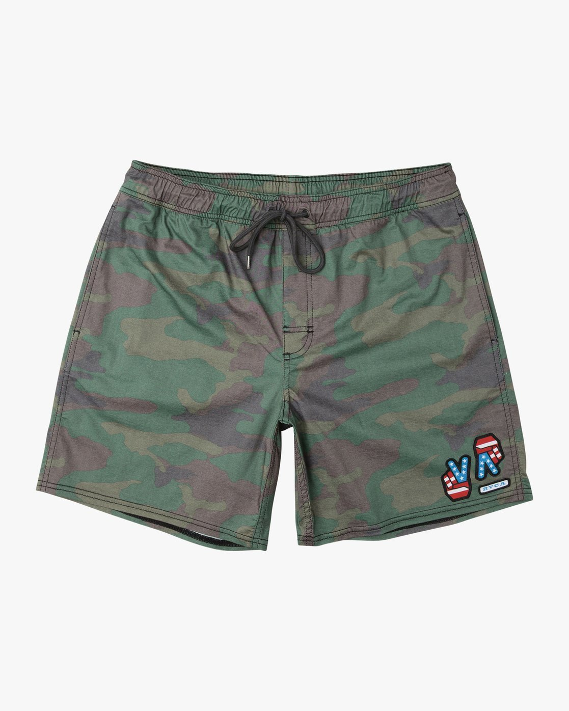 "0 Daytona Elastic Short - 17"" Boardshorts for Men Camo P1VORGRVS9 RVCA"