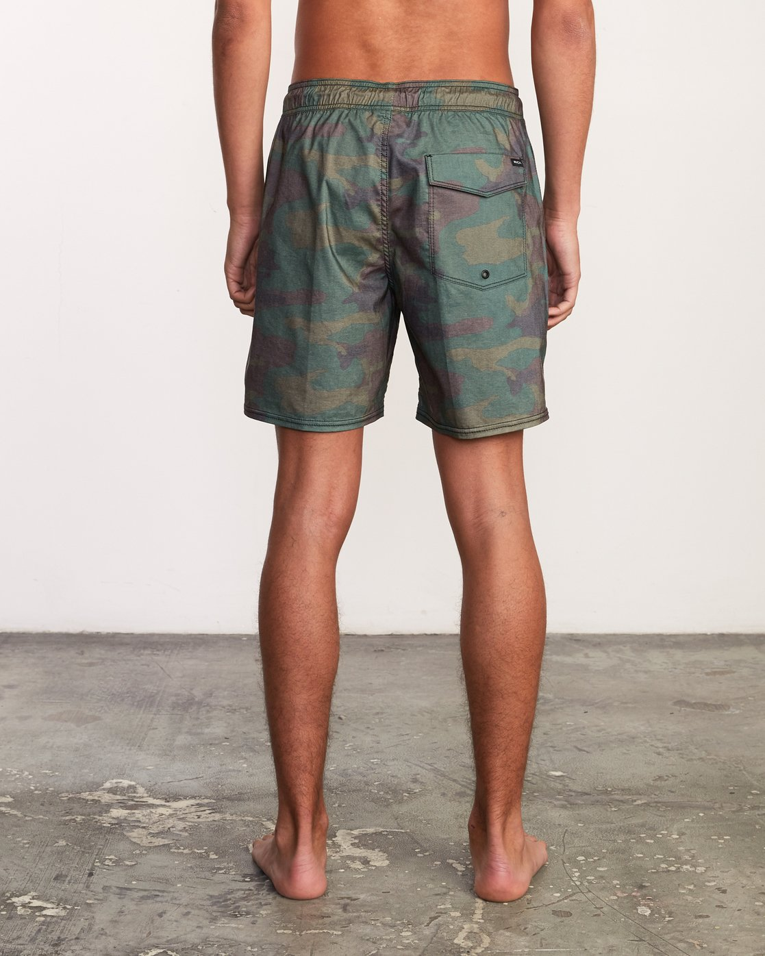 "4 Daytona Elastic Short - 17"" Boardshorts for Men Camo P1VORGRVS9 RVCA"