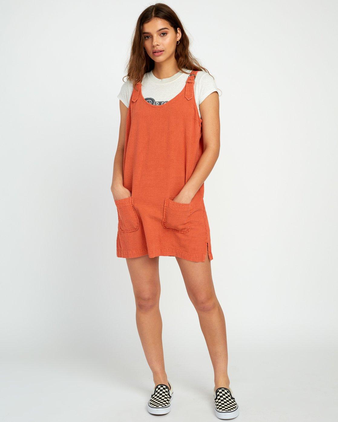 4 Tech That Searsucker - Dress for Women Yellow P3DRRCRVS9 RVCA