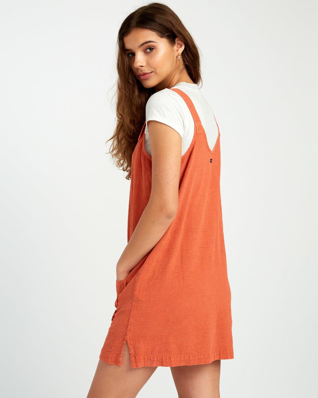3 Tech That Searsucker - Dress for Women Yellow P3DRRCRVS9 RVCA
