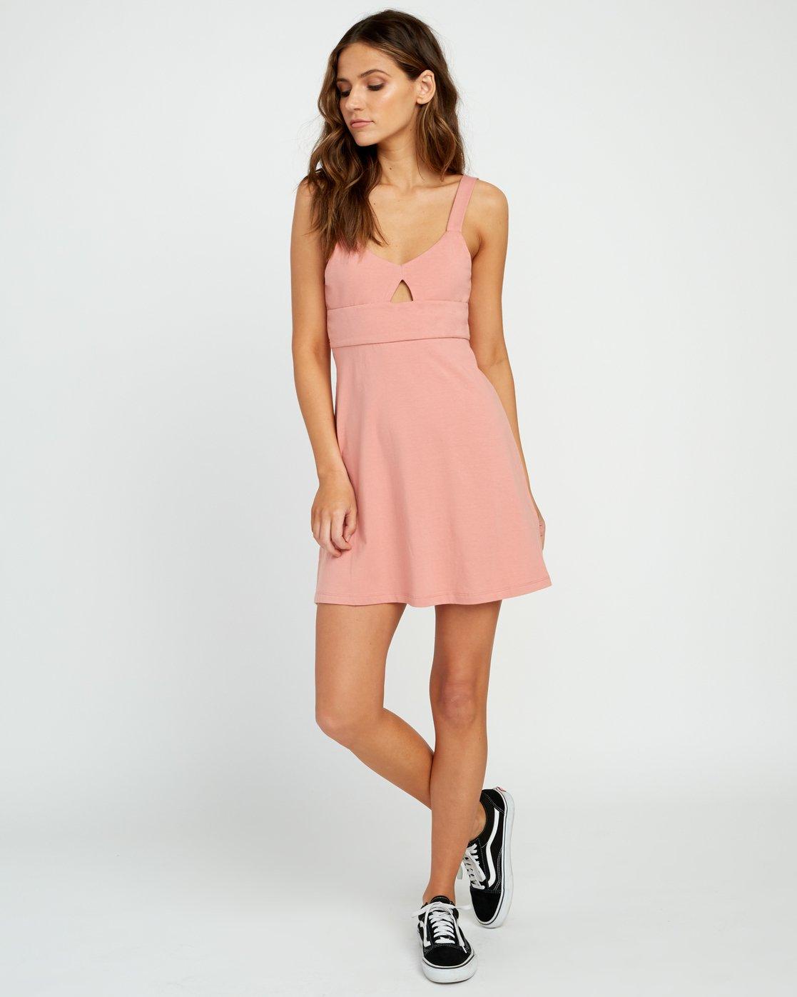 3 All Talk Knit Dress Brown P3DRRFRVS9 RVCA