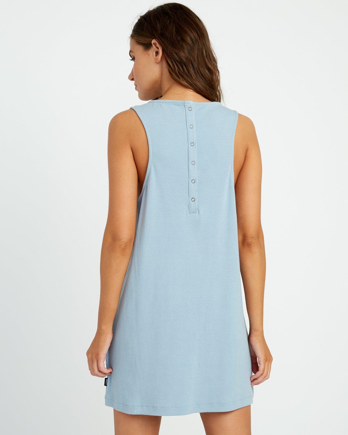 2 ON THE FENCE DRESS Bleu P3DRRJRVS9 RVCA