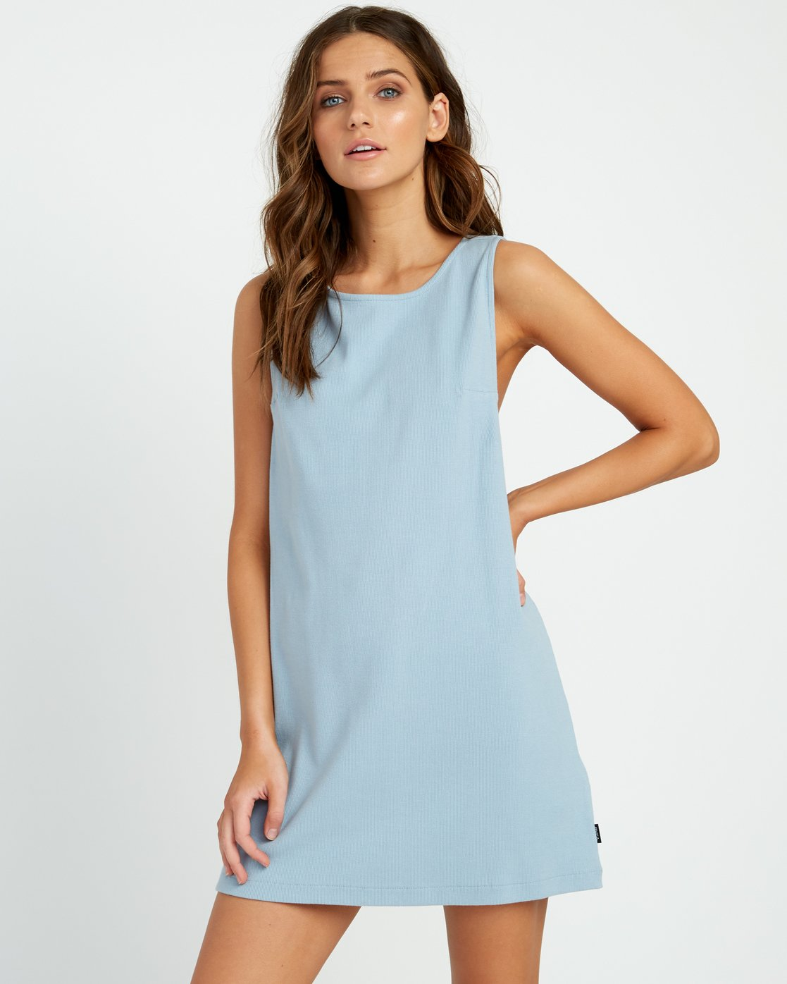 0 ON THE FENCE DRESS Bleu P3DRRJRVS9 RVCA