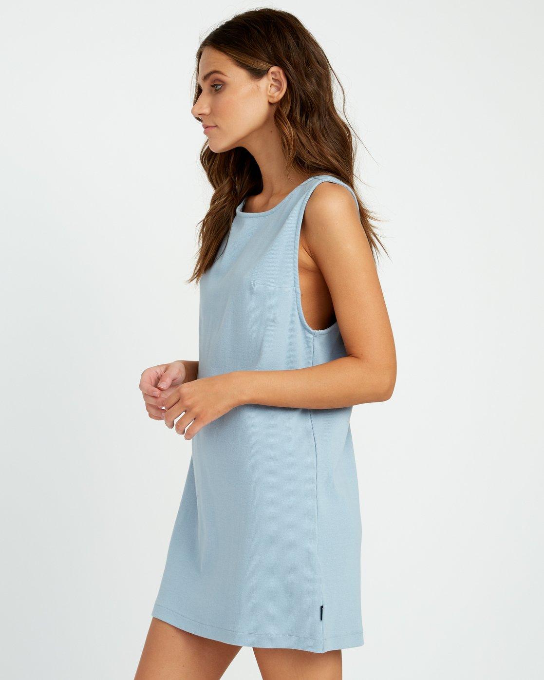 1 ON THE FENCE DRESS Bleu P3DRRJRVS9 RVCA