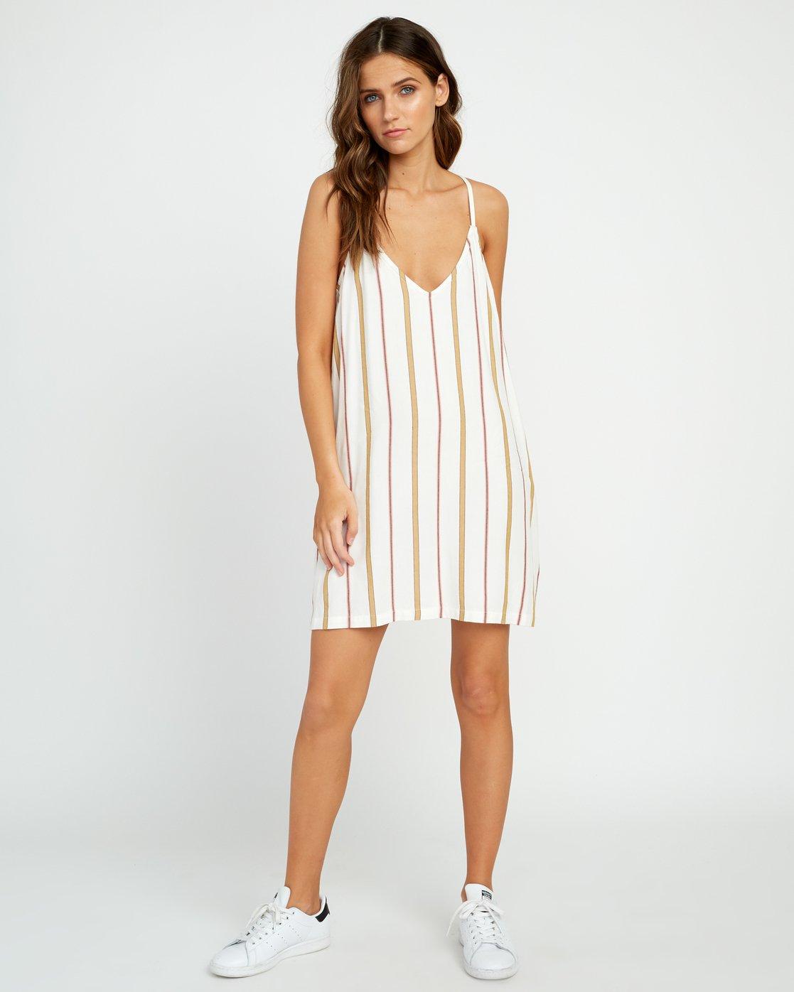 3 Fluke Stripe - Dress for Women White P3DRRKRVS9 RVCA