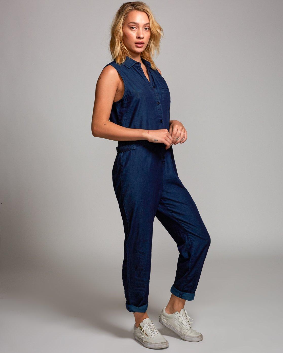 2 Ellis Coverall Jumpsuit Blue P3ONRIRVS9 RVCA