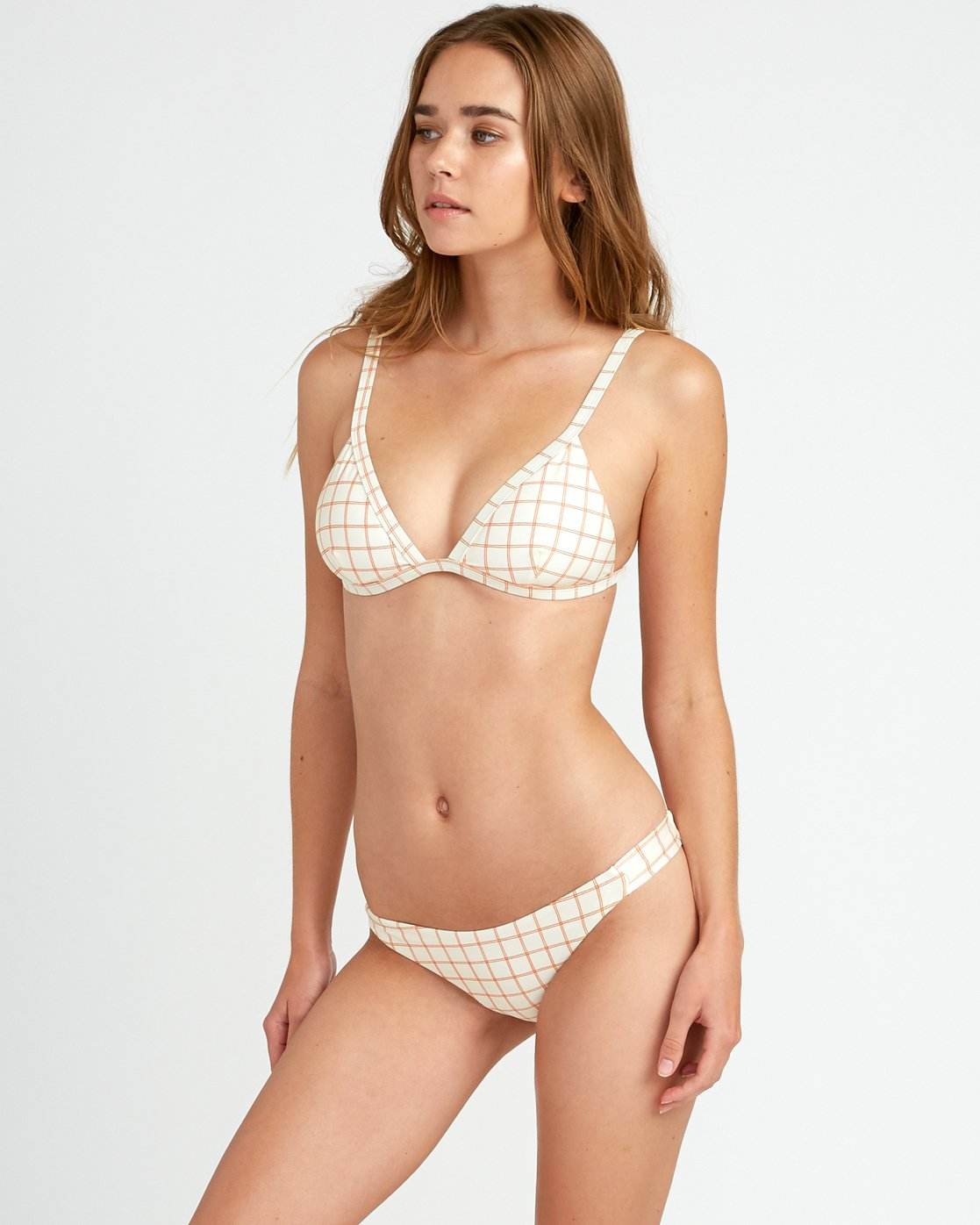 1 Grid Medium Bikini Bottoms White P3SBRCRVS9 RVCA