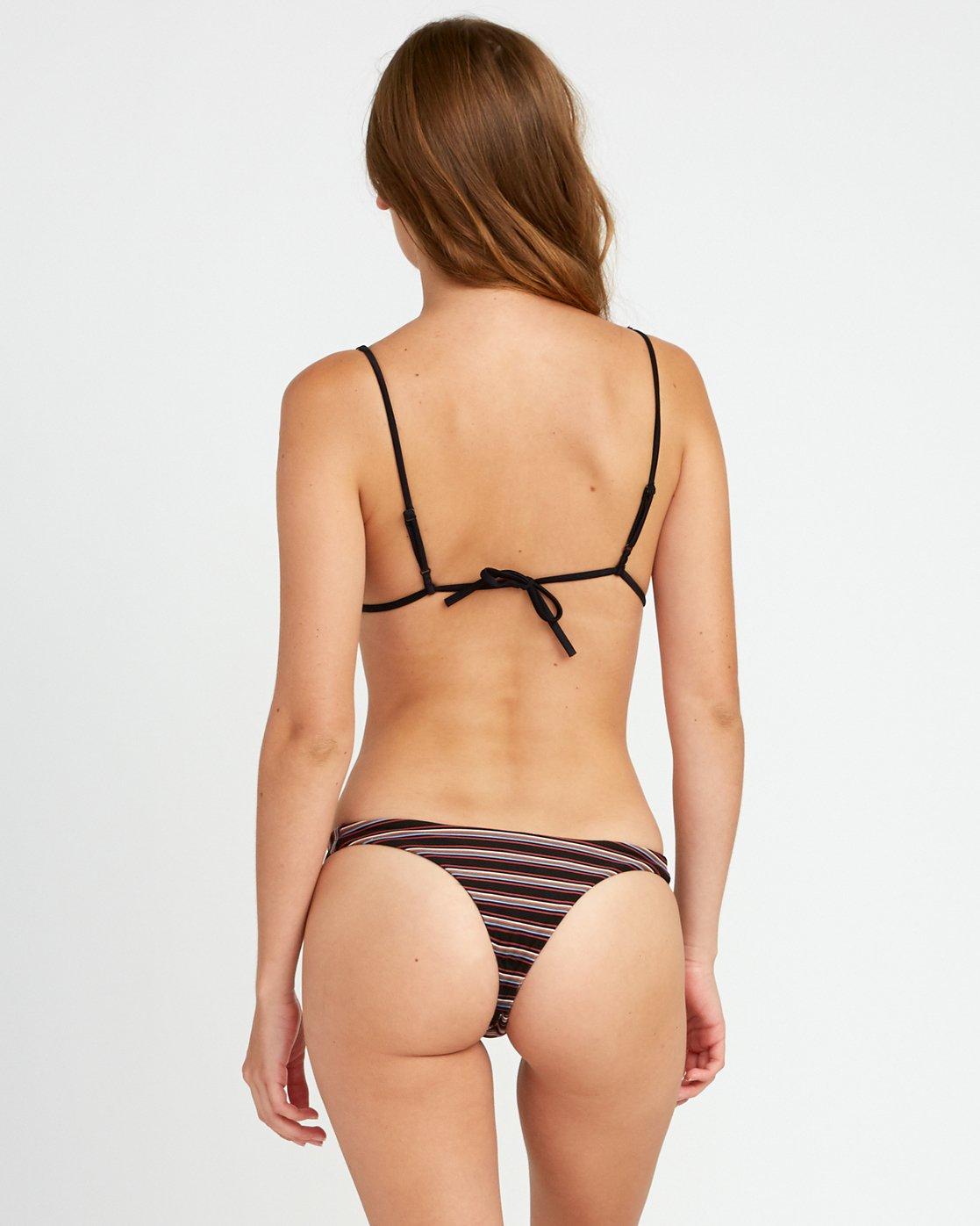 0 Bandit Striped - Skimpy Bikini Bottoms for Women Negro P3SBRGRVS9 RVCA