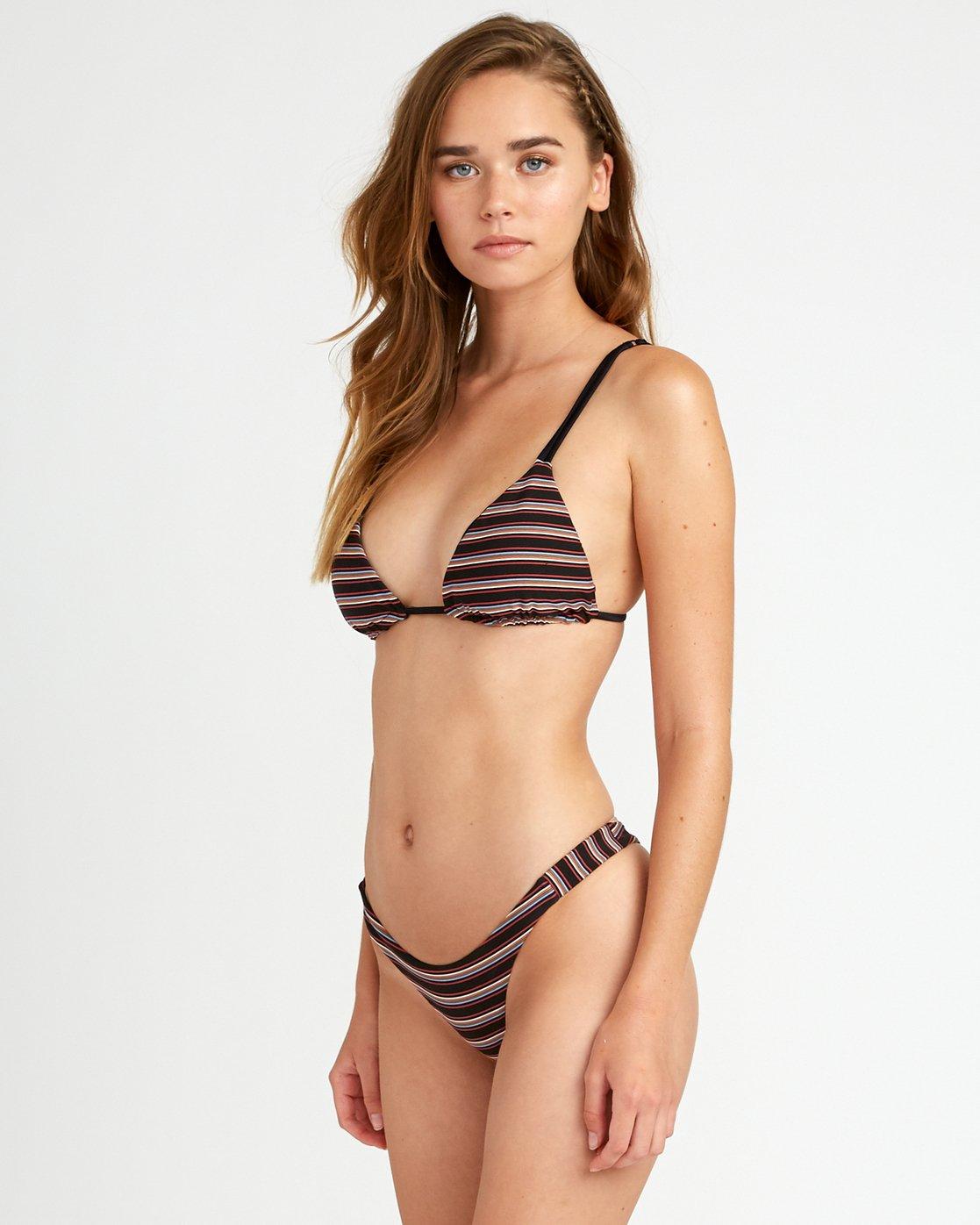 1 Bandit Striped - Skimpy Bikini Bottoms for Women Negro P3SBRGRVS9 RVCA