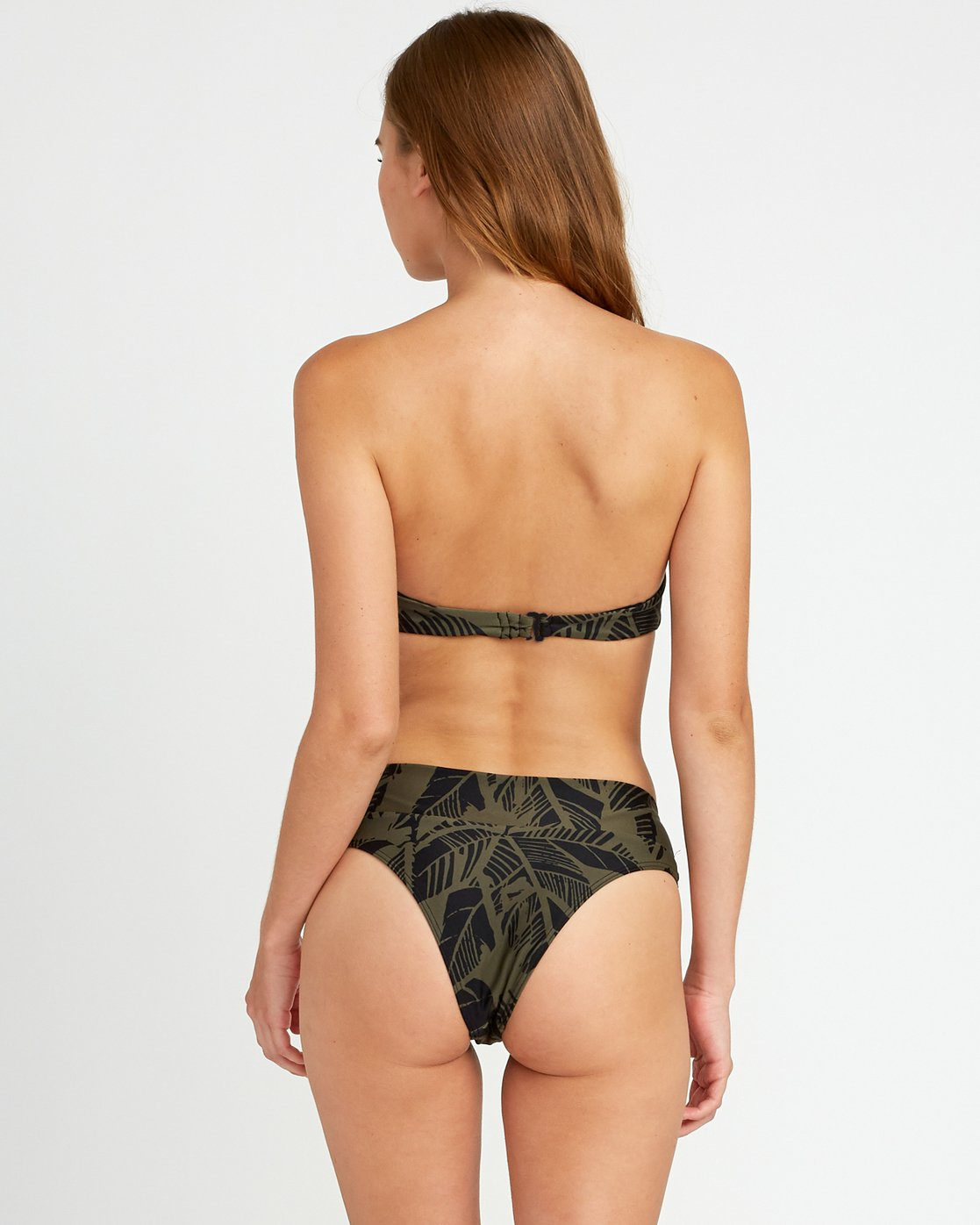0 Harlo High Rise Cheeky Bikini Bottoms Green P3SBRHRVS9 RVCA