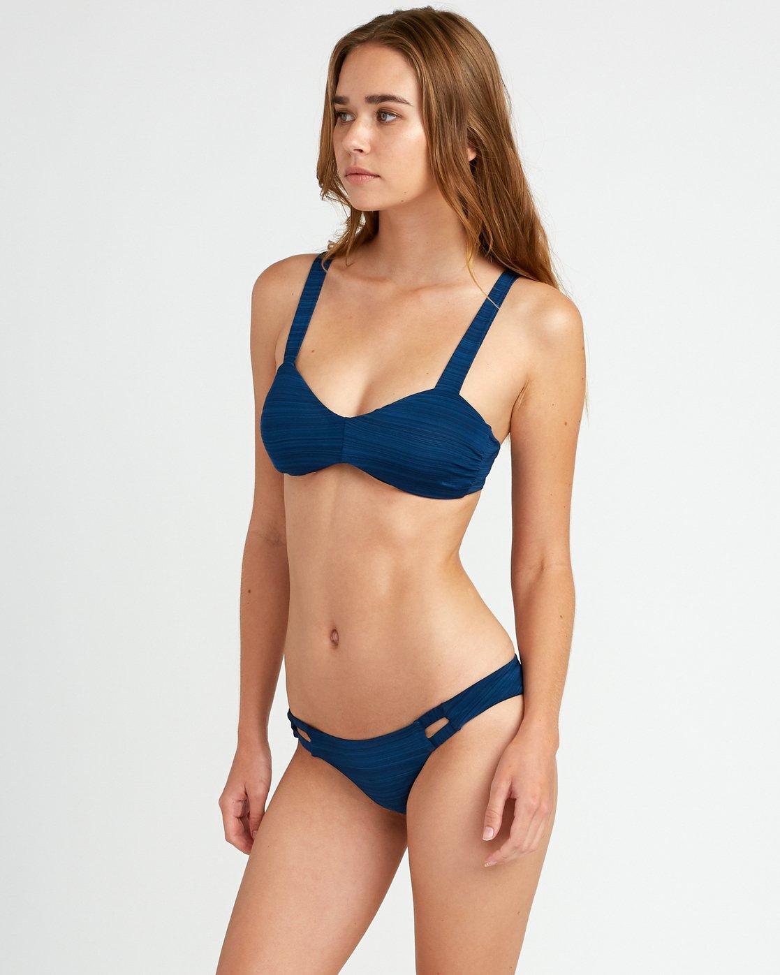 1 Rowan Medium Bikini Bottoms Blue P3SBRORVS9 RVCA