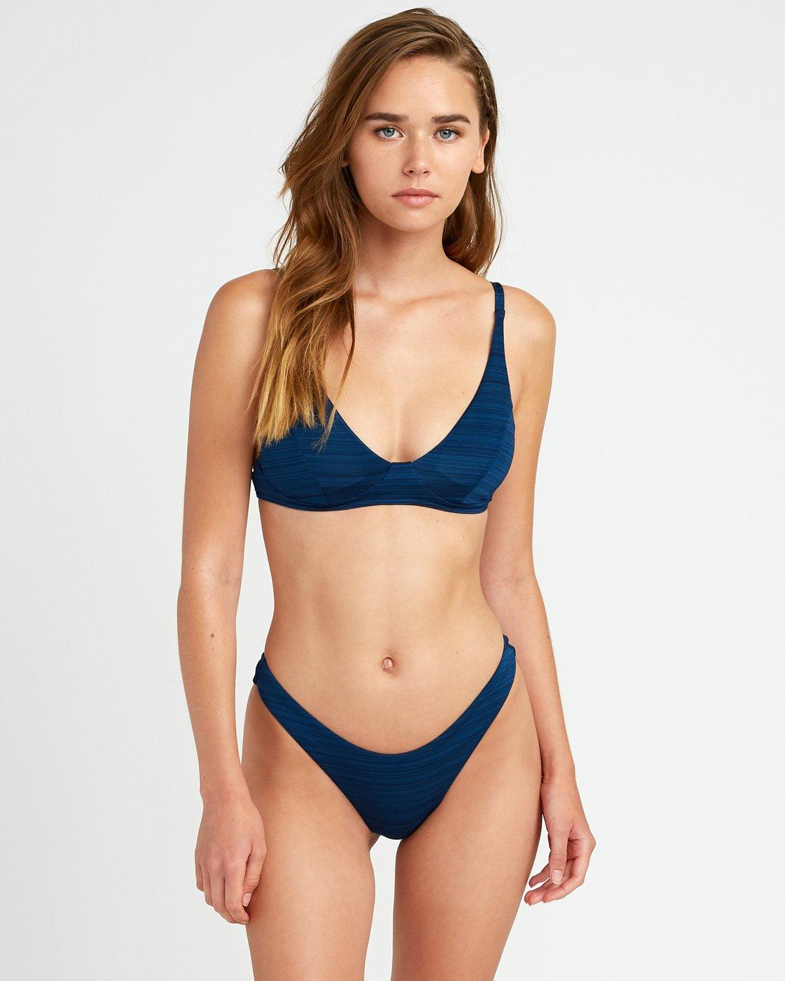 2 Rowan Skimpy Bikini Bottoms Blue P3SBRPRVS9 RVCA