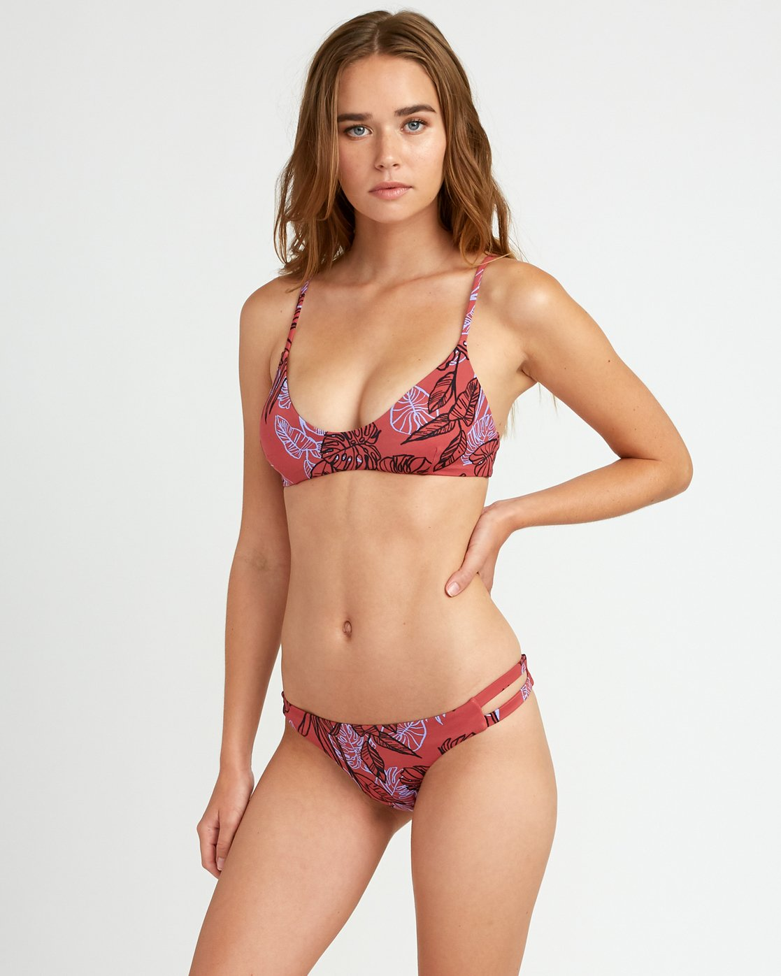 1 Tropic Punch Full Bikini Bottoms Red P3SBRSRVS9 RVCA