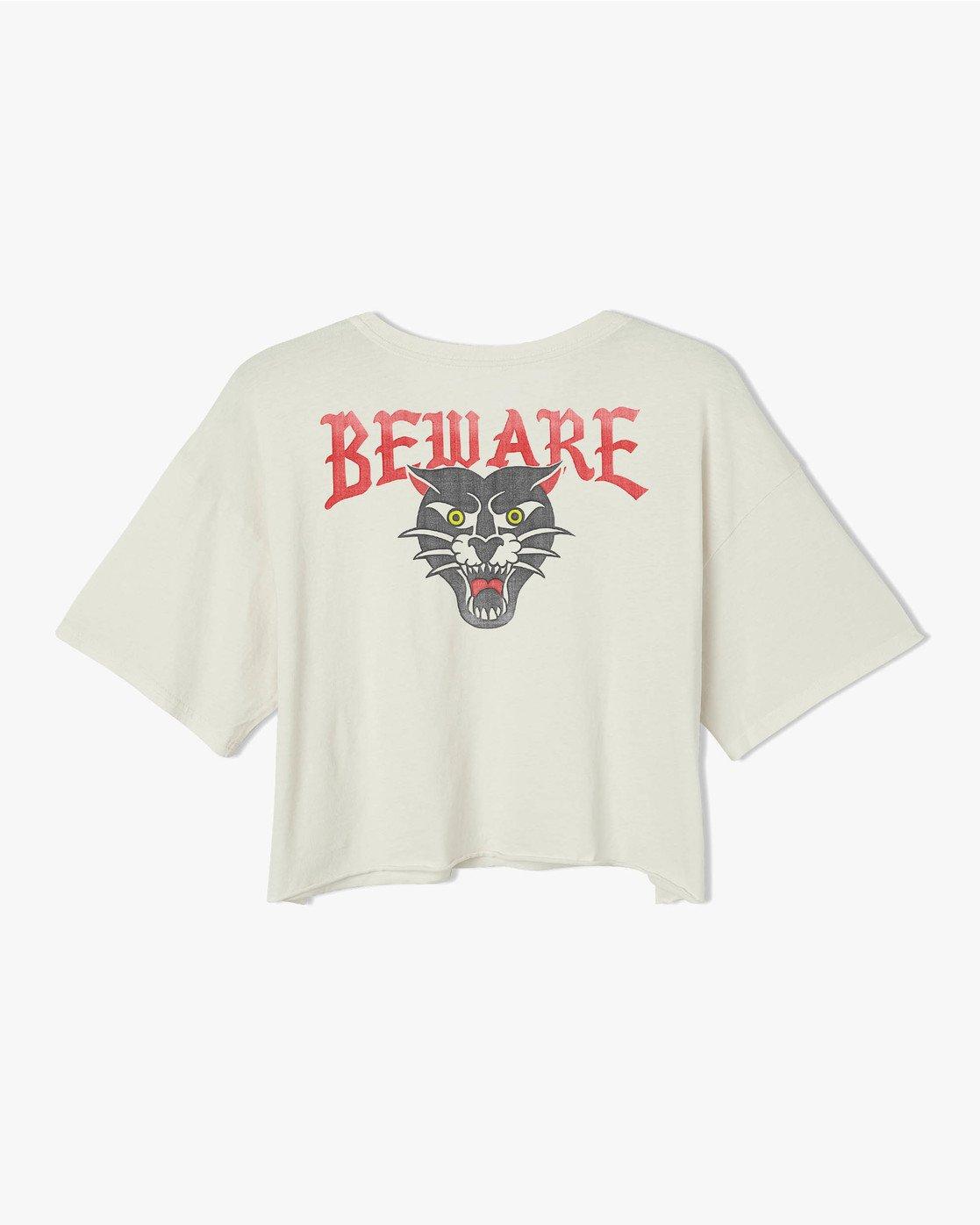 6 Beware Ss T-Shirt White P3SSRBRVS9 RVCA
