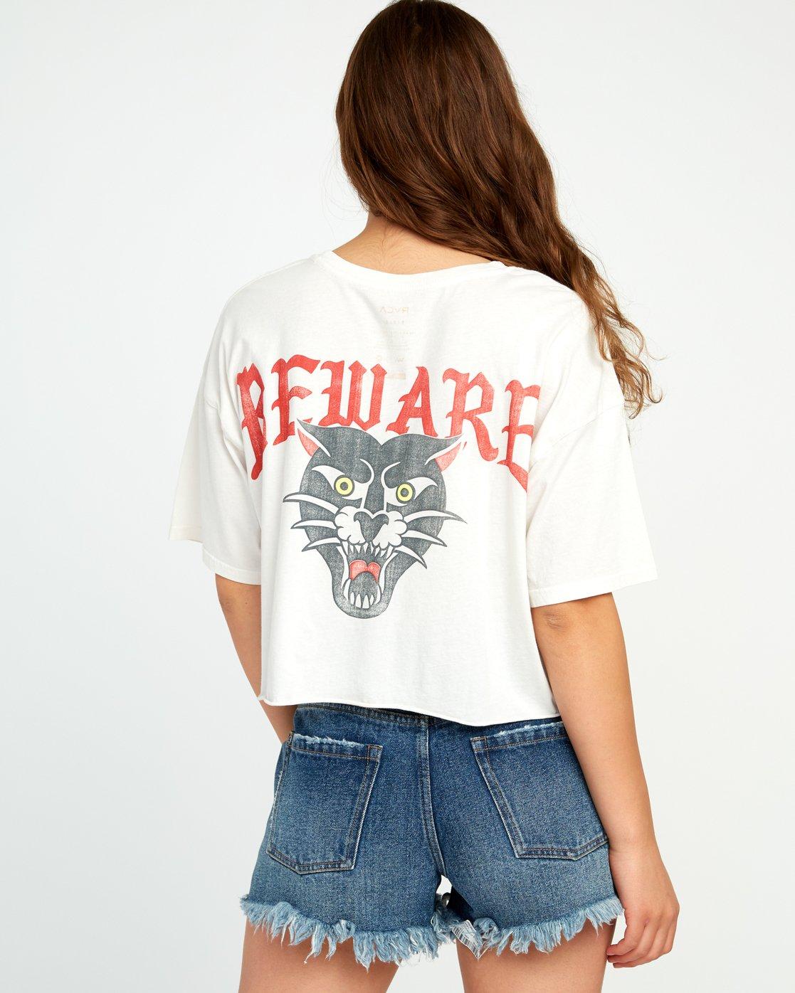 4 Beware Ss T-Shirt White P3SSRBRVS9 RVCA