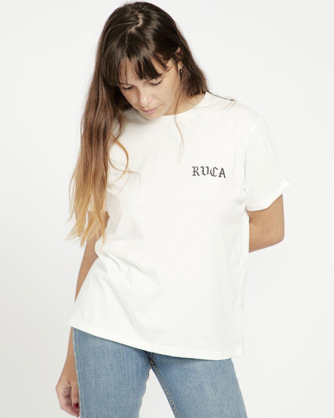 1 Beware Ss T-Shirt White P3SSRBRVS9 RVCA