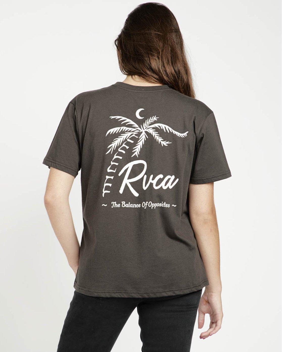 0 Tropicale Ss T-Shirt Black P3SSRERVS9 RVCA