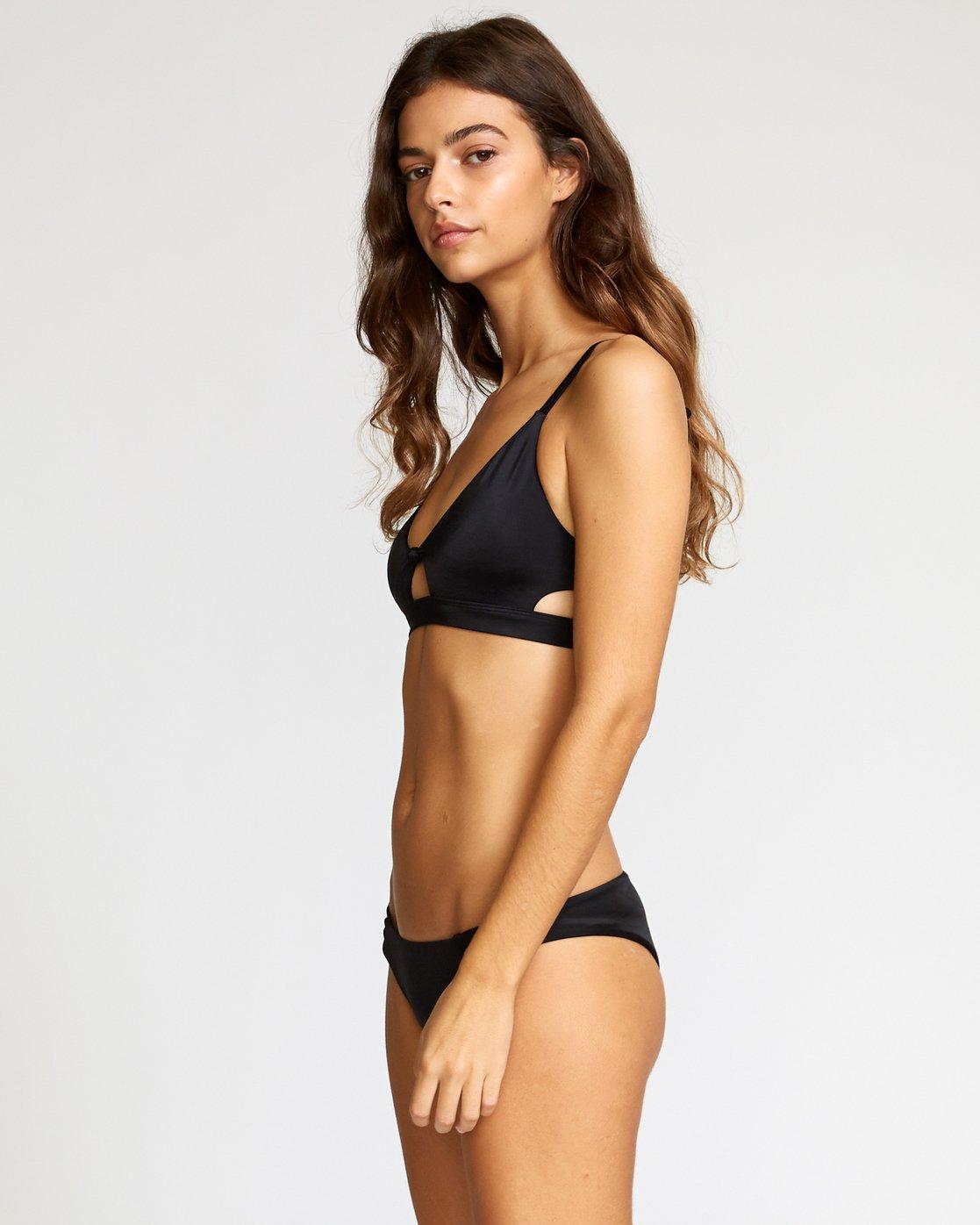 1 Solid Bralette Bikini Top Black P3STRERVS9 RVCA