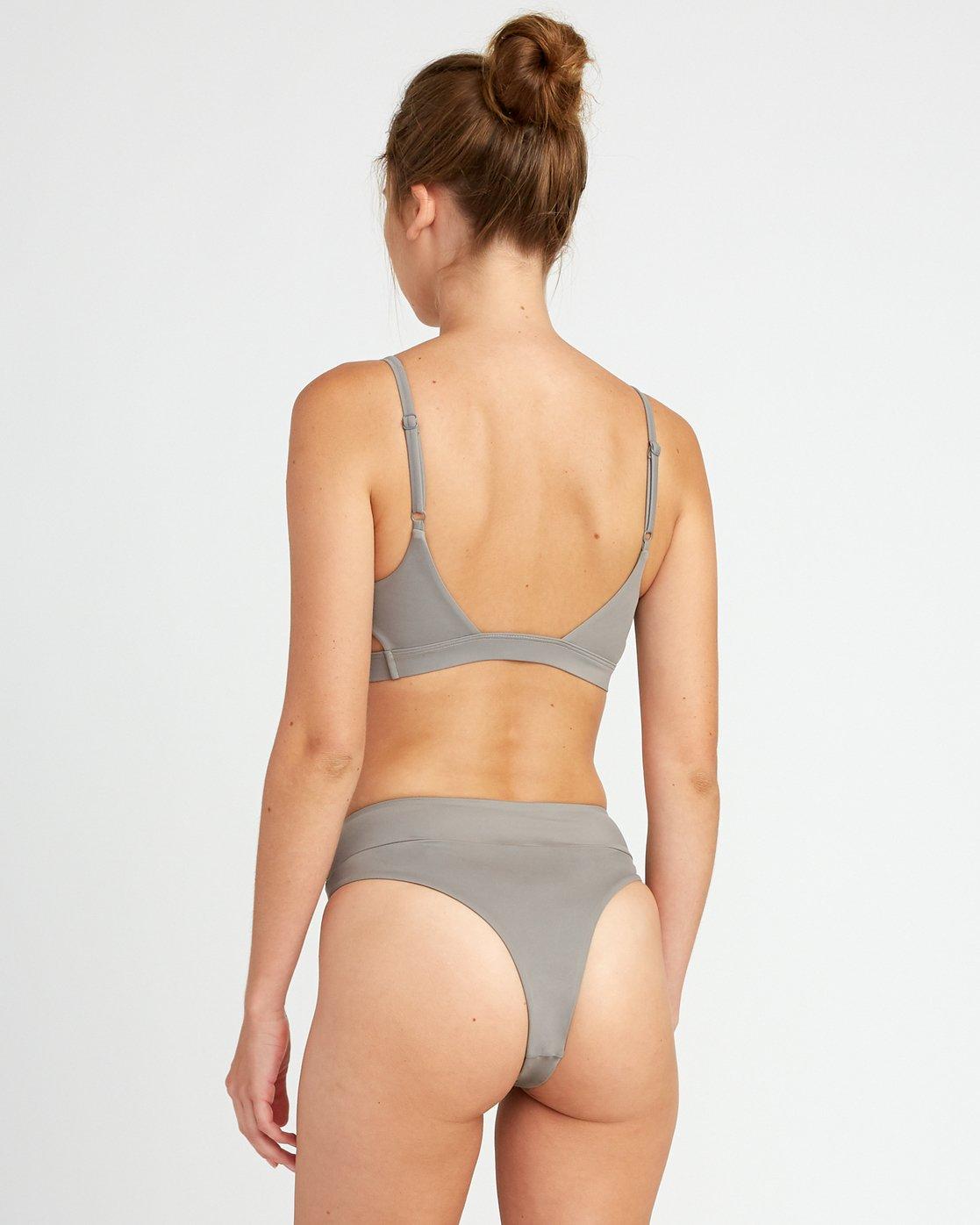 2 Solid  - Bralette Bikini da Donna Brown P3STRERVS9 RVCA