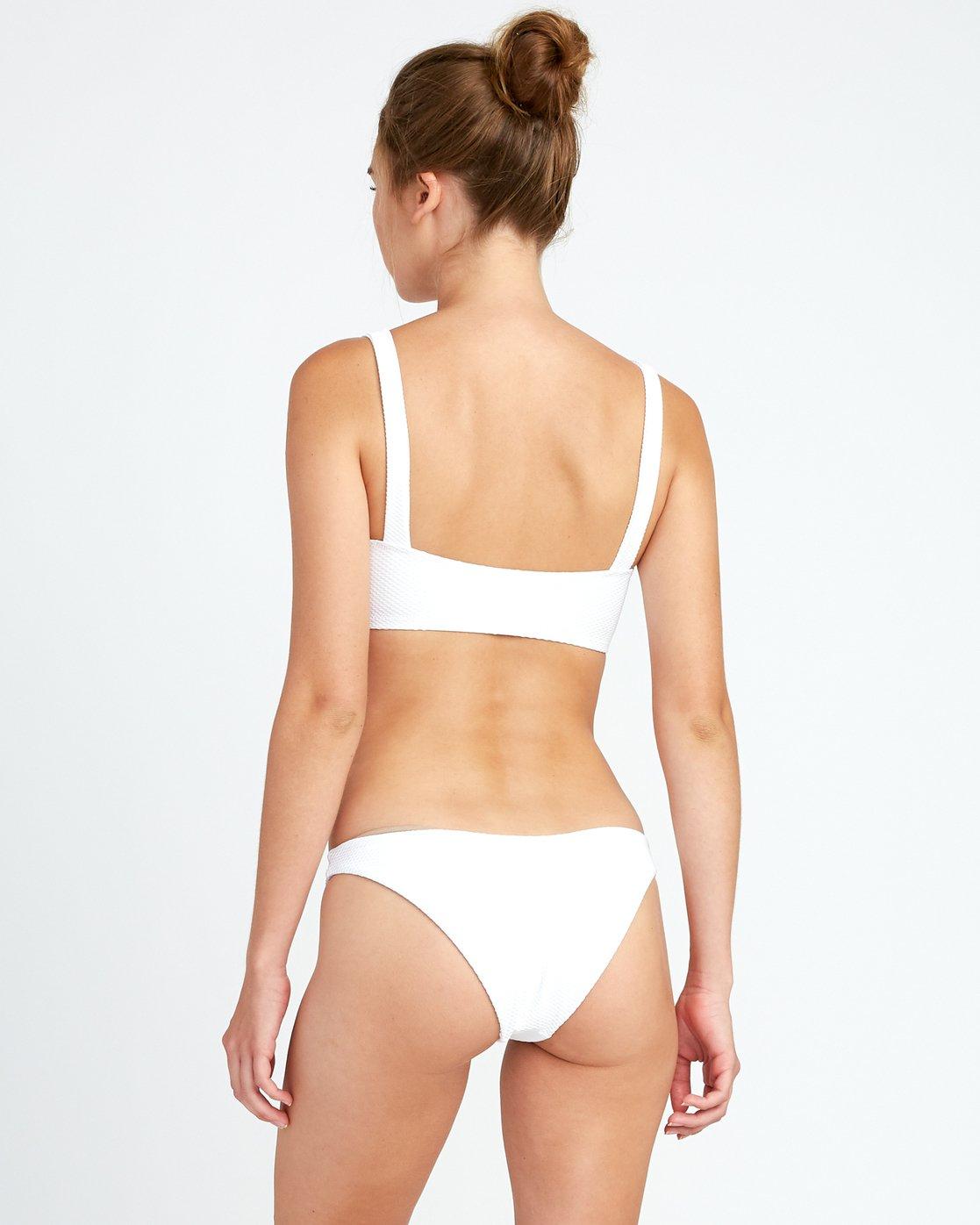 3 White Noise Bandeau Bikini Top White P3STRFRVS9 RVCA