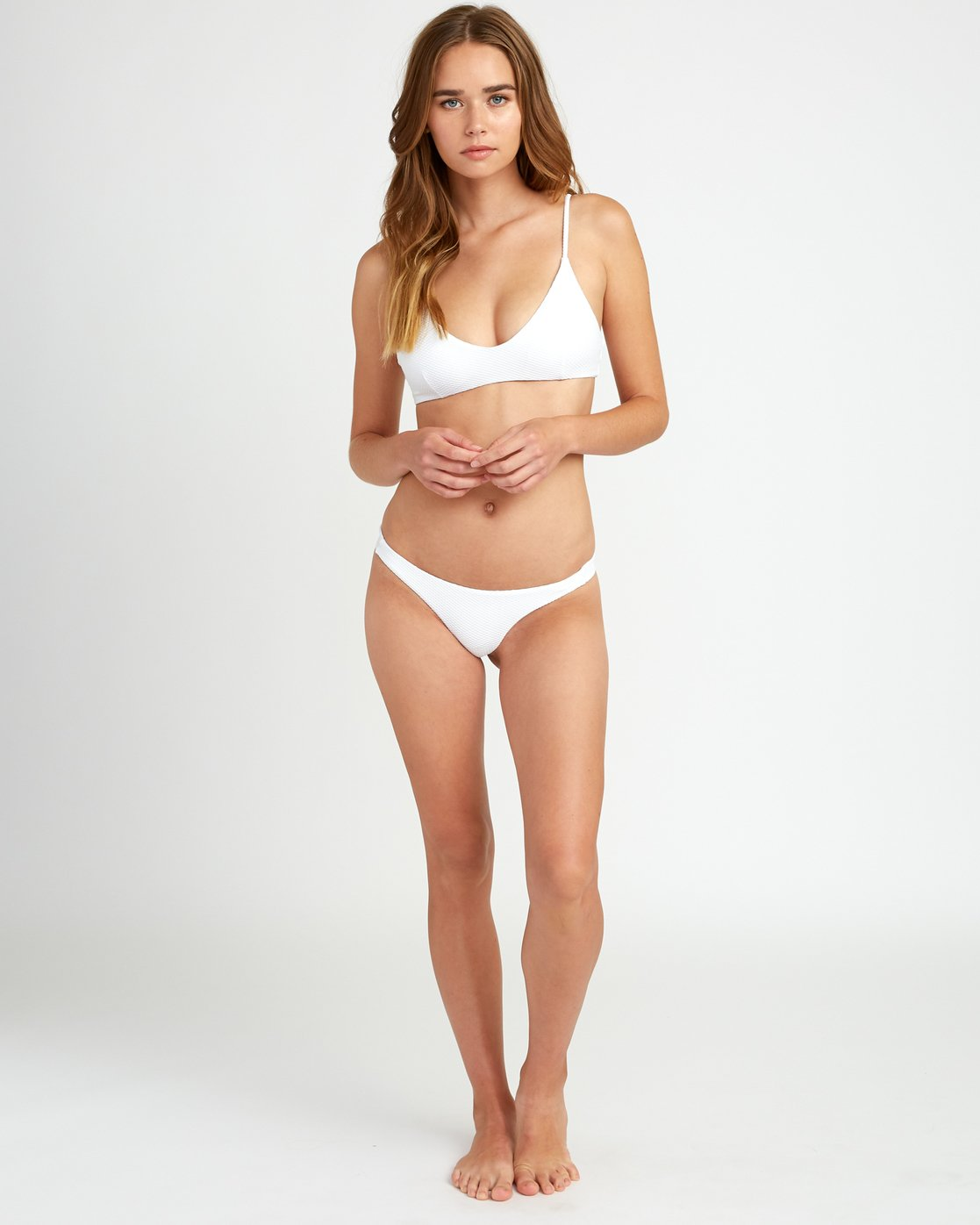 4 White Noise - Haut de bikini Bralette pour Femme Blanc P3STRGRVS9 RVCA