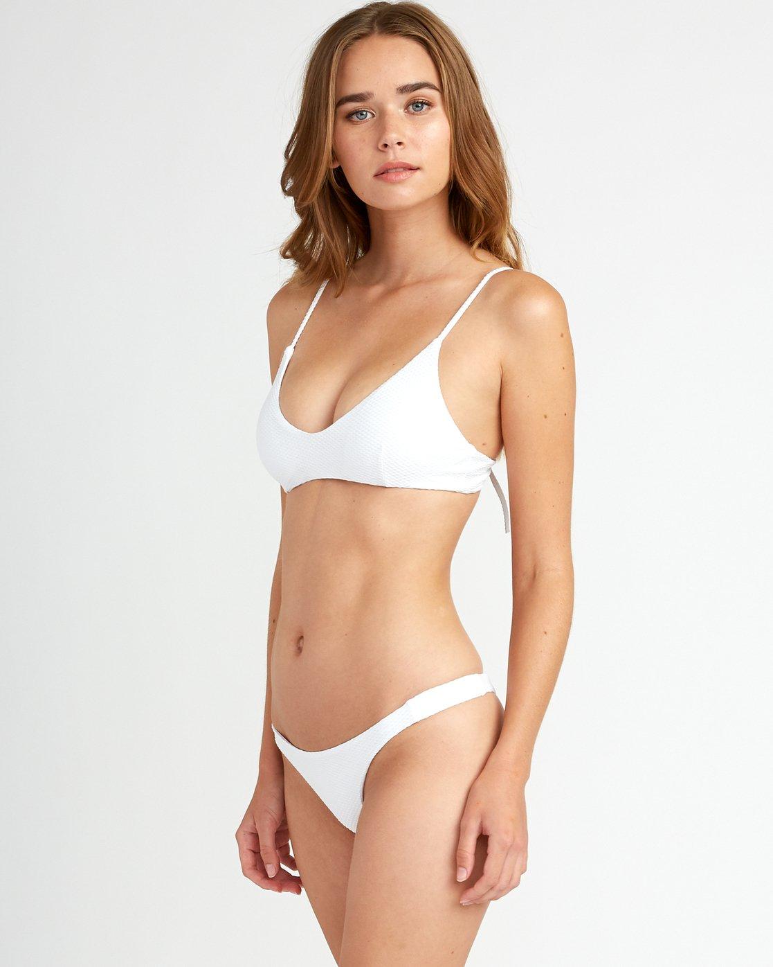1 White Noise - Haut de bikini Bralette pour Femme Blanc P3STRGRVS9 RVCA