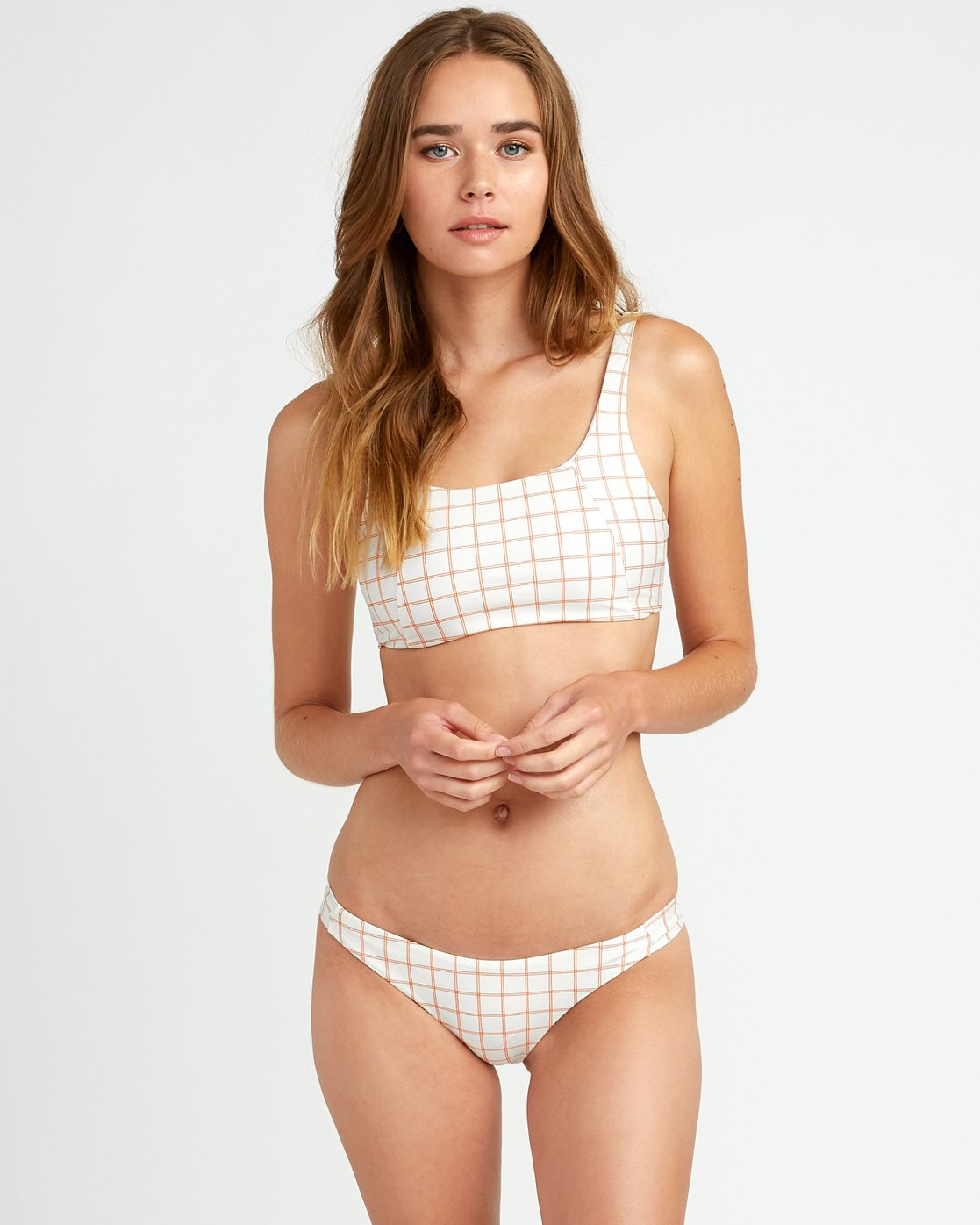 0 Kristen Liu Wong Grid Two Way - Top for Women White P3STRHRVS9 RVCA