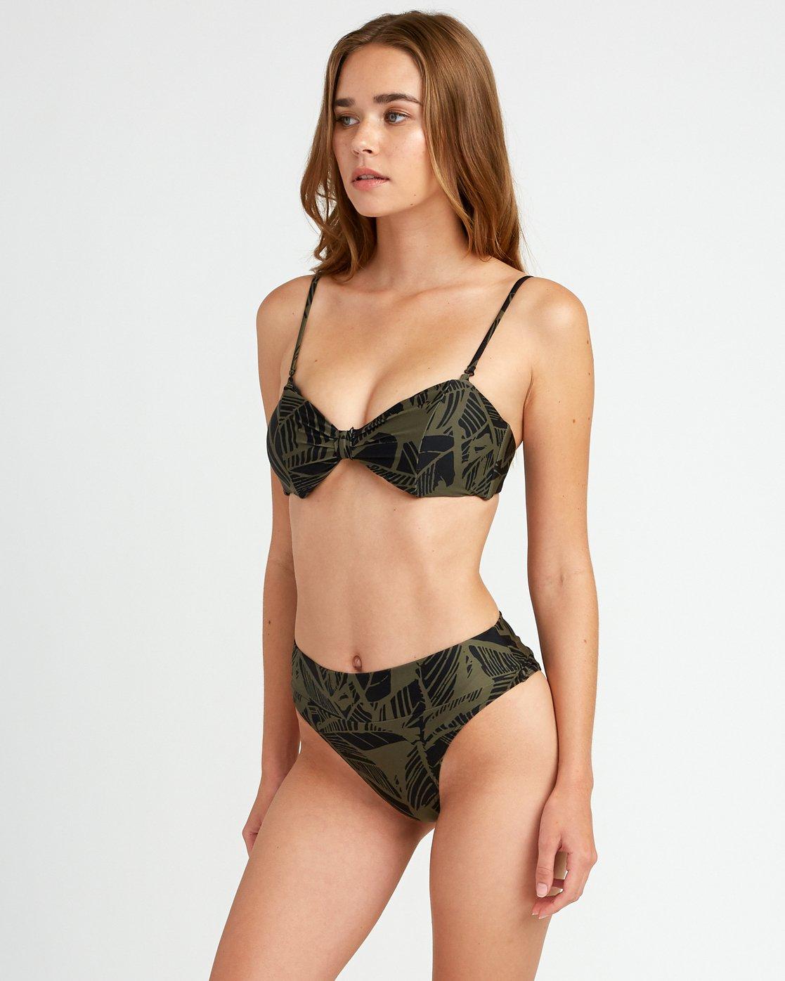 1 Harlo - Bandeau Bikini Top for Women Green P3STRMRVS9 RVCA