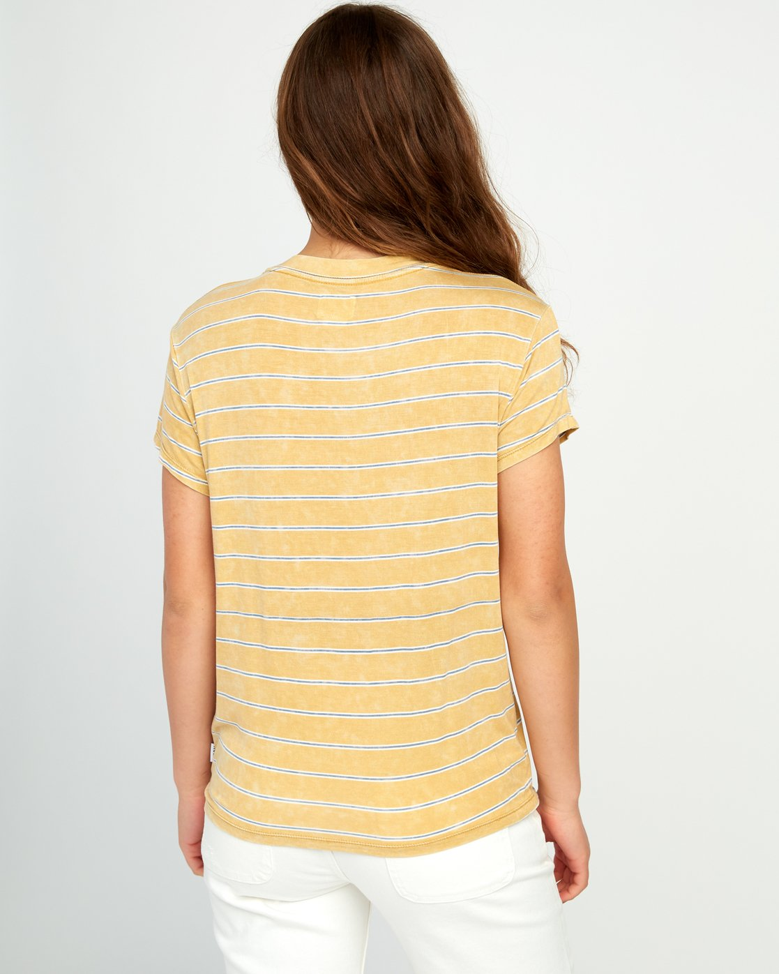 2 Recess Striped Knit T-Shirt Yellow P3TPRBRVS9 RVCA
