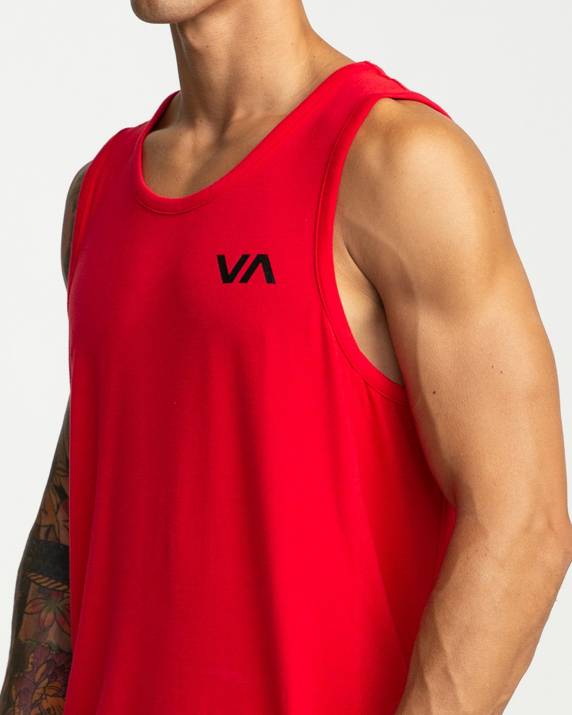 6 VA Vent - Sports Sleeveless Top for Men Red P4KTMBRVS9 RVCA