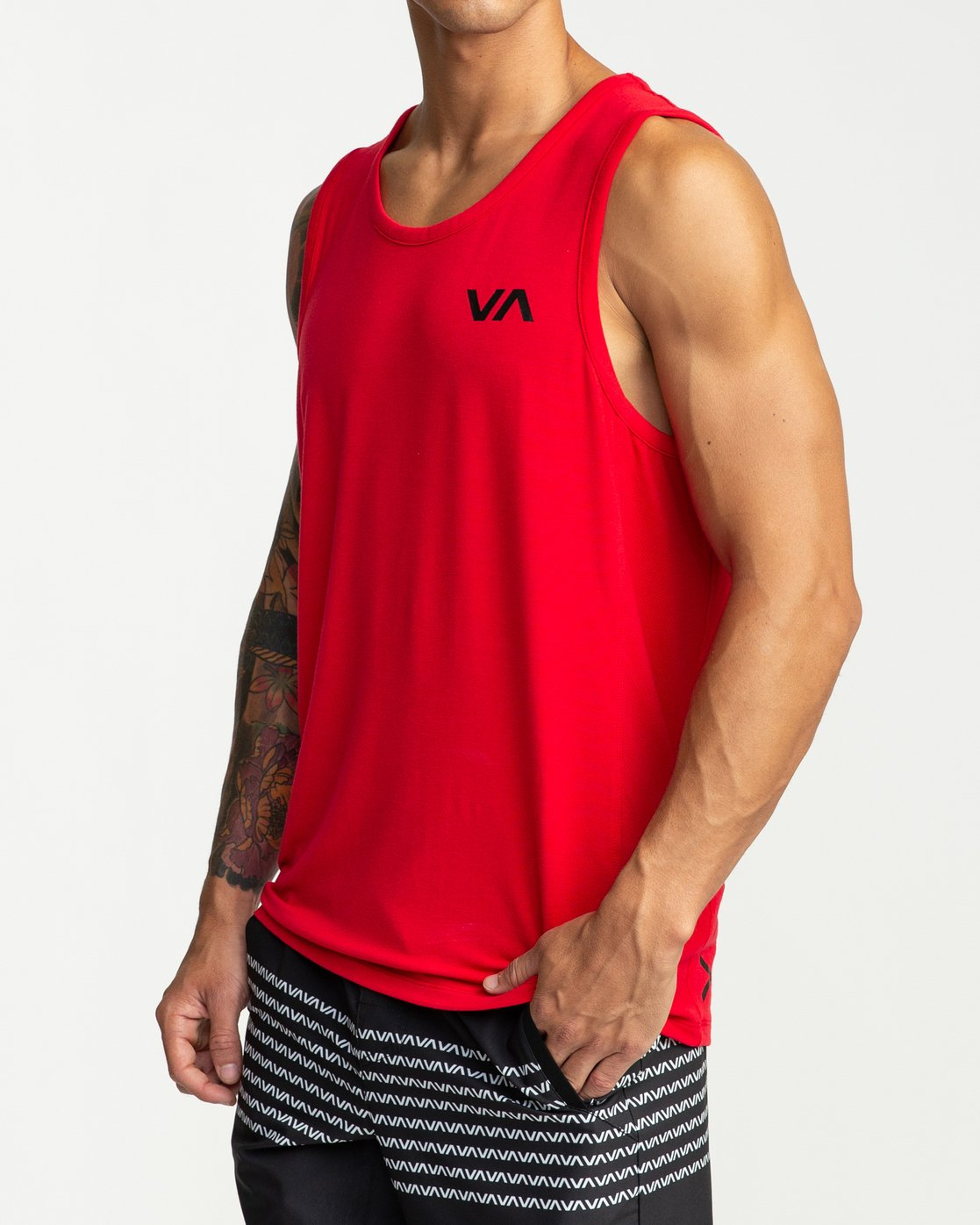 3 VA Vent - Sports Sleeveless Top for Men Red P4KTMBRVS9 RVCA