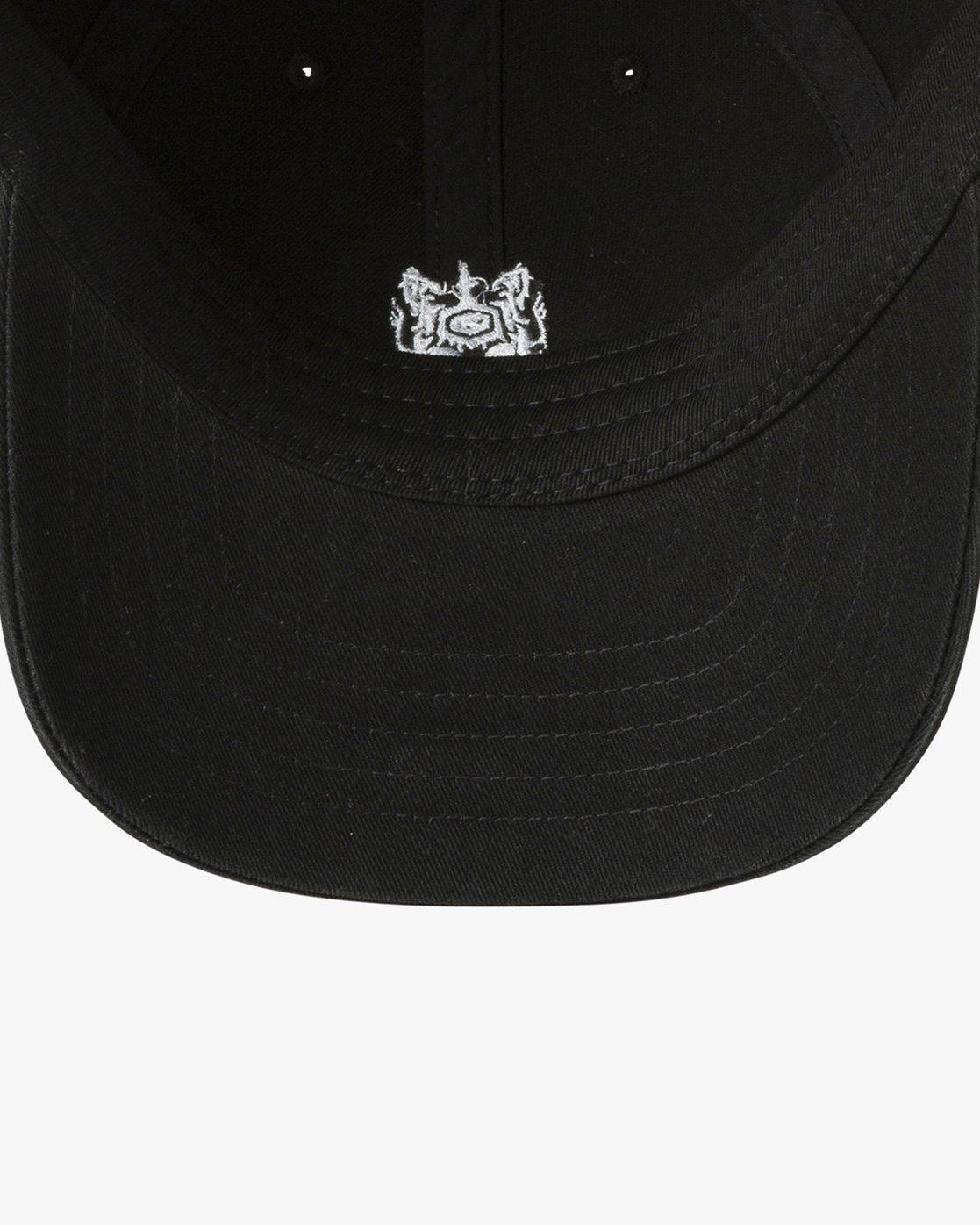 3 Crest  - Strapback Cap Black P5CPRFRVS9 RVCA