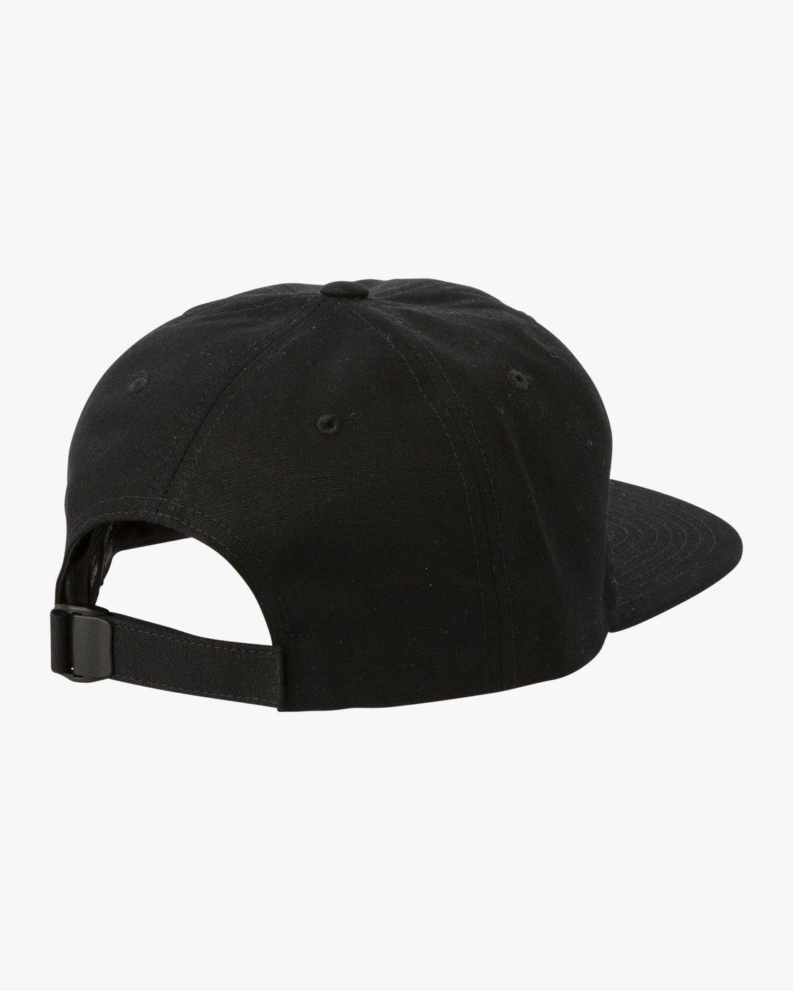 1 Tombstone Strapback Cap Black P5CPRHRVS9 RVCA