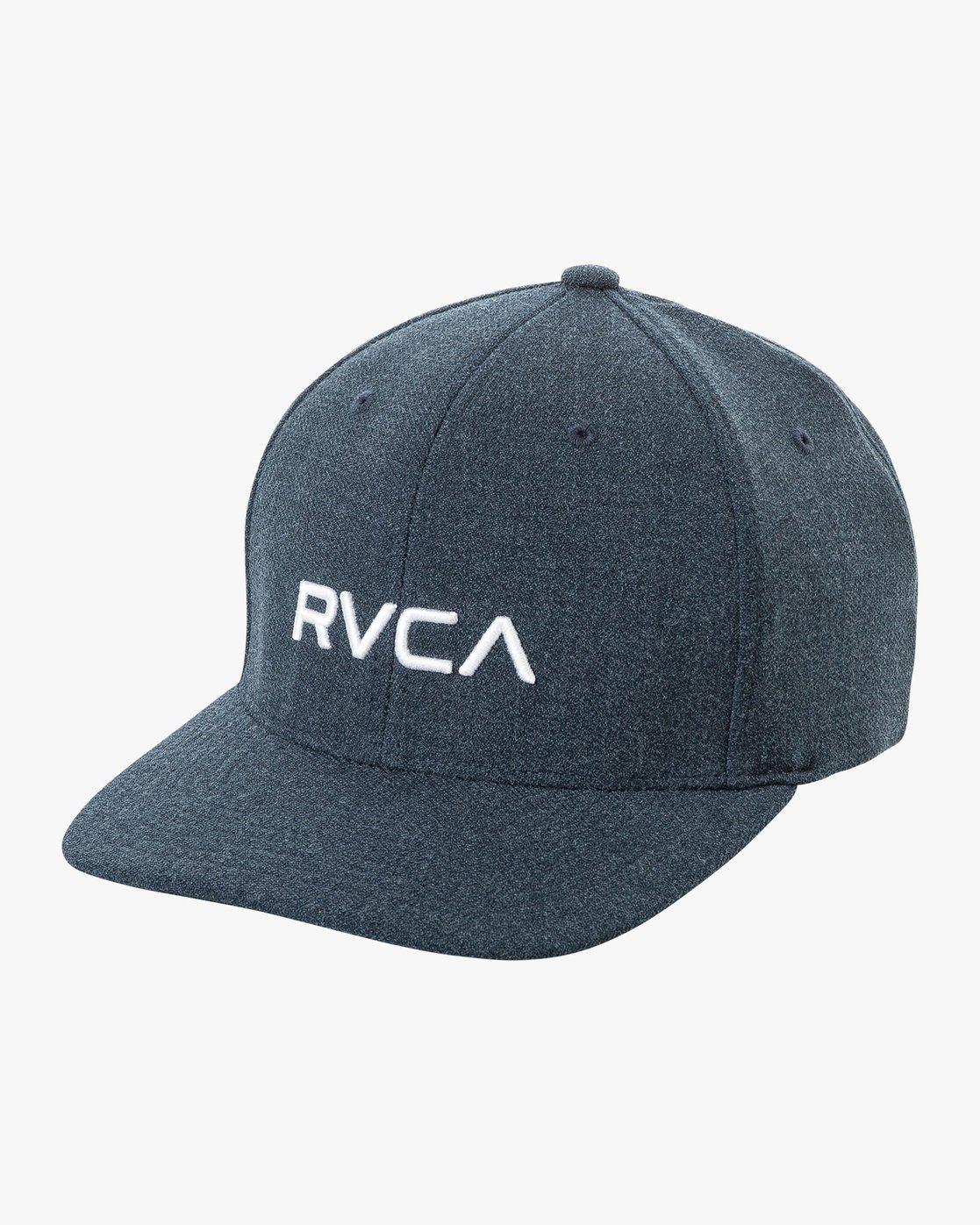 0 Rvca Flex Fit Cap Blue P5CPRIRVS9 RVCA