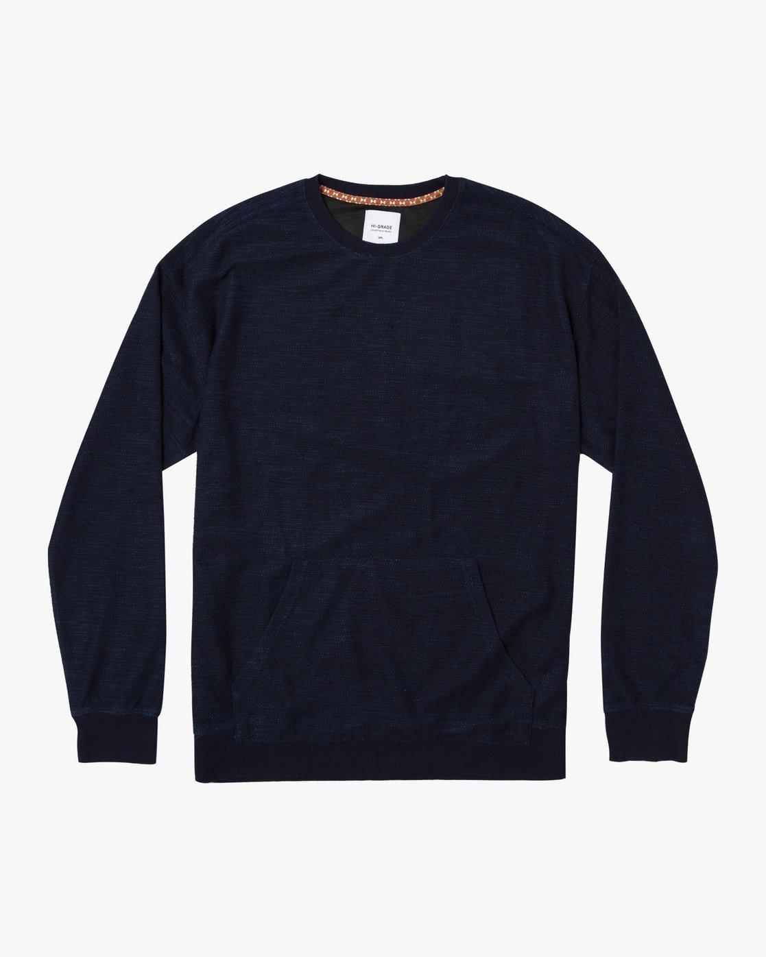 0 Hi - rade Crew - Sweatshirt Blue Q1CRRBRVF9 RVCA