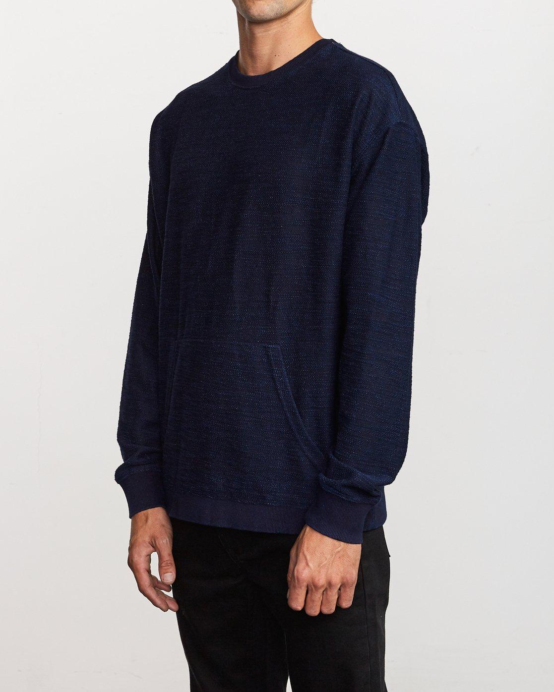 2 Hi - rade Crew - Sweatshirt Blue Q1CRRBRVF9 RVCA