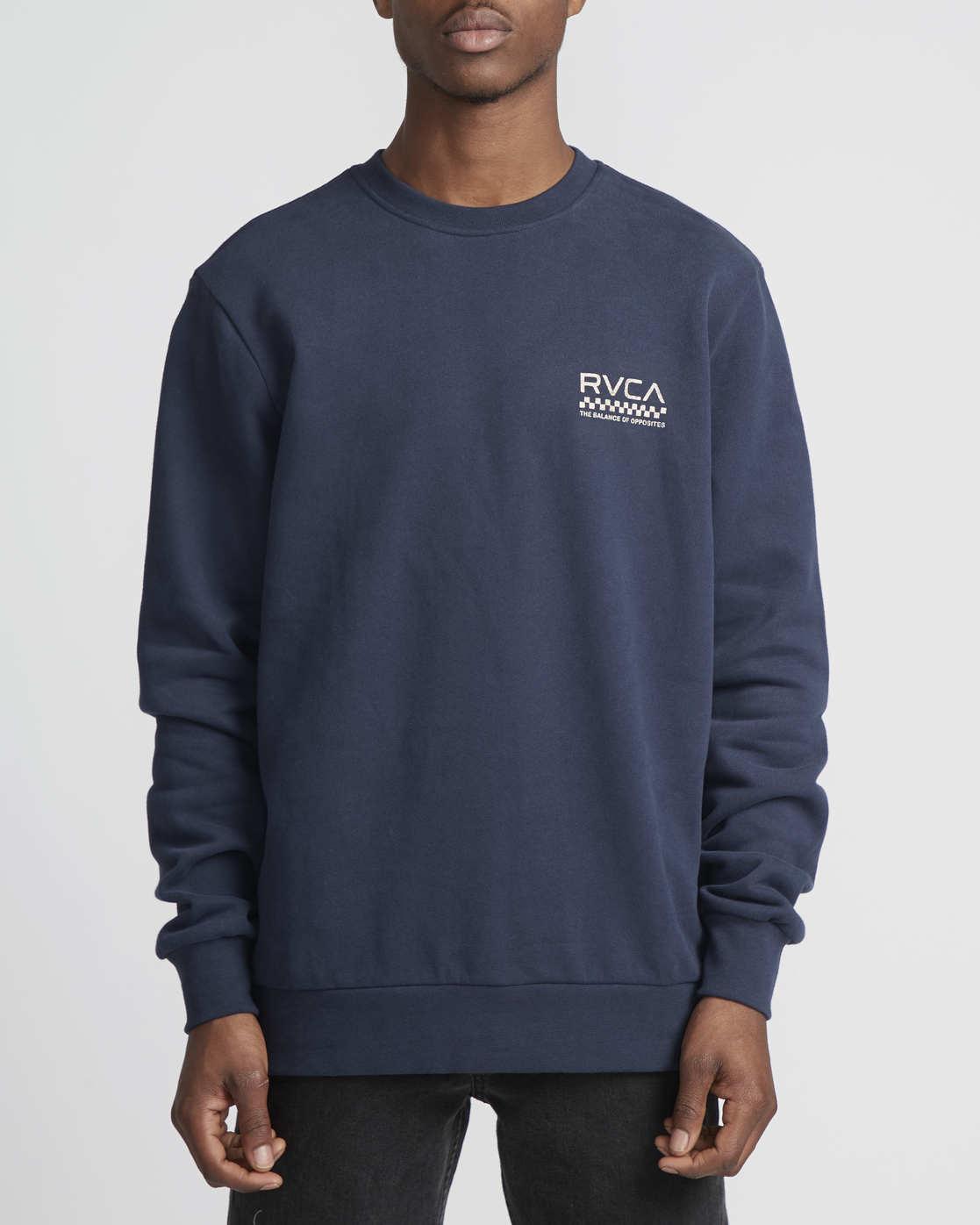 4 Check Mate Crew  - Sweatshirt  Q1CRRGRVF9 RVCA